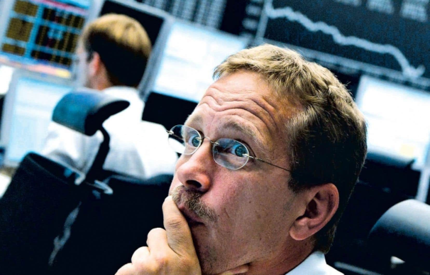 C'est à la Bourse de Francfort que la chute a été la plus rude hier, avec une baisse de 5,28 %.<br />