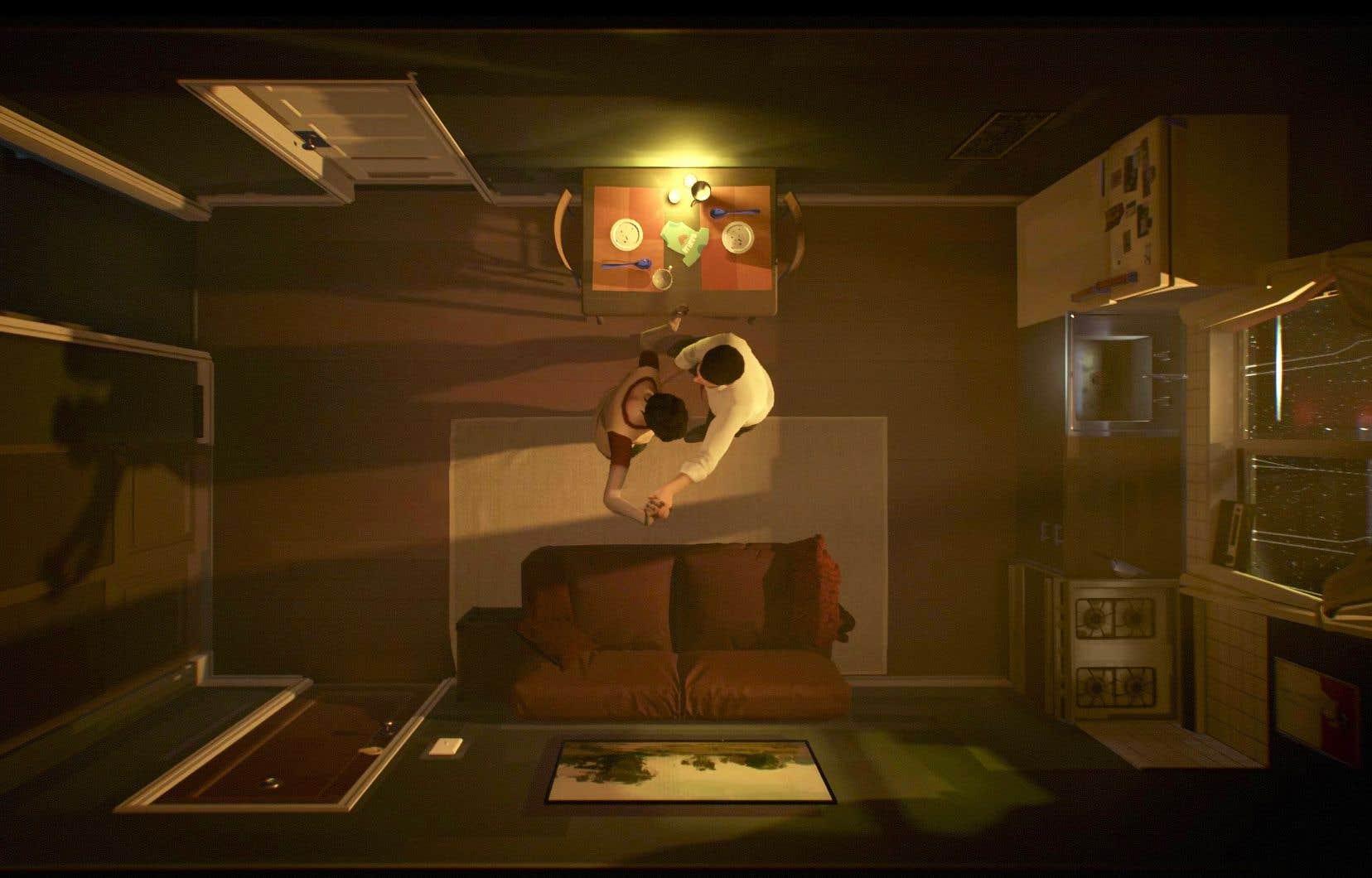 Une scène tirée du jeu vidéo d'aventure«Twelve Minutes»