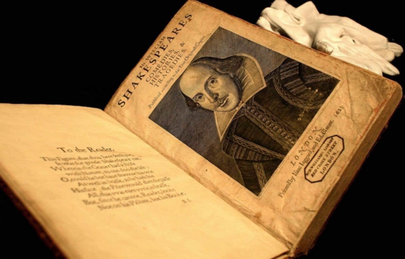 Première édition des pièces de Shakespeare datant de 1623