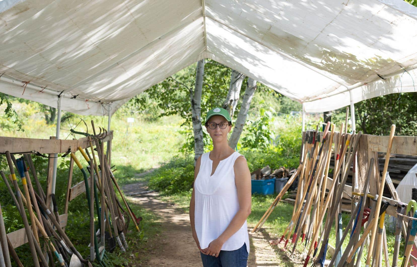 Depuis quelques semaines, la candidate verte et professeure de droit de l'Université du Nouveau-Brunswick, Nicole O'Byrne, multiplie les événements et le porte-à-porte dans la circonscription de Fredericton.