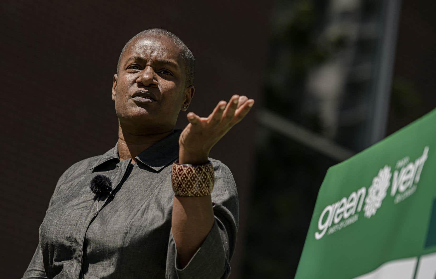 La cheffe du Parti vert, Annamie Paul