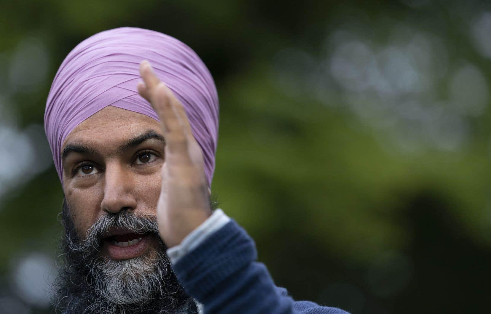 Jagmeet Singh a assuré qu'il n'empiéterait pas sur les compétences provinciales.