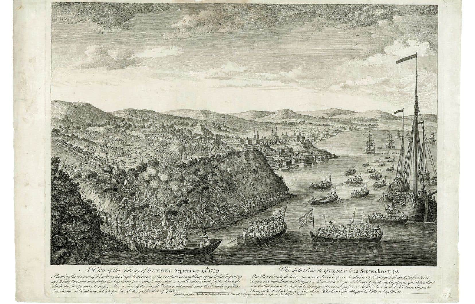 Vue de la prise de Québec le 13 septembre 1759