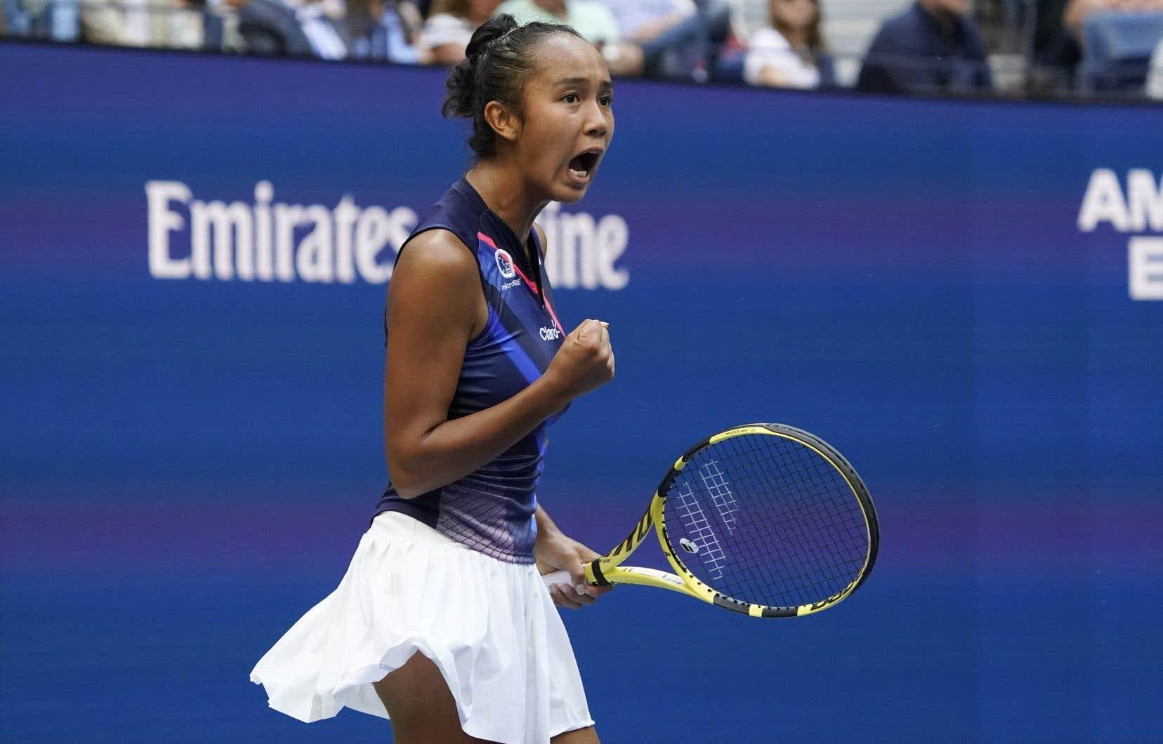 Le jeune Québécoise Leylah Annie Fernandez se hisse maintenant au 28e rang du classement WTA.