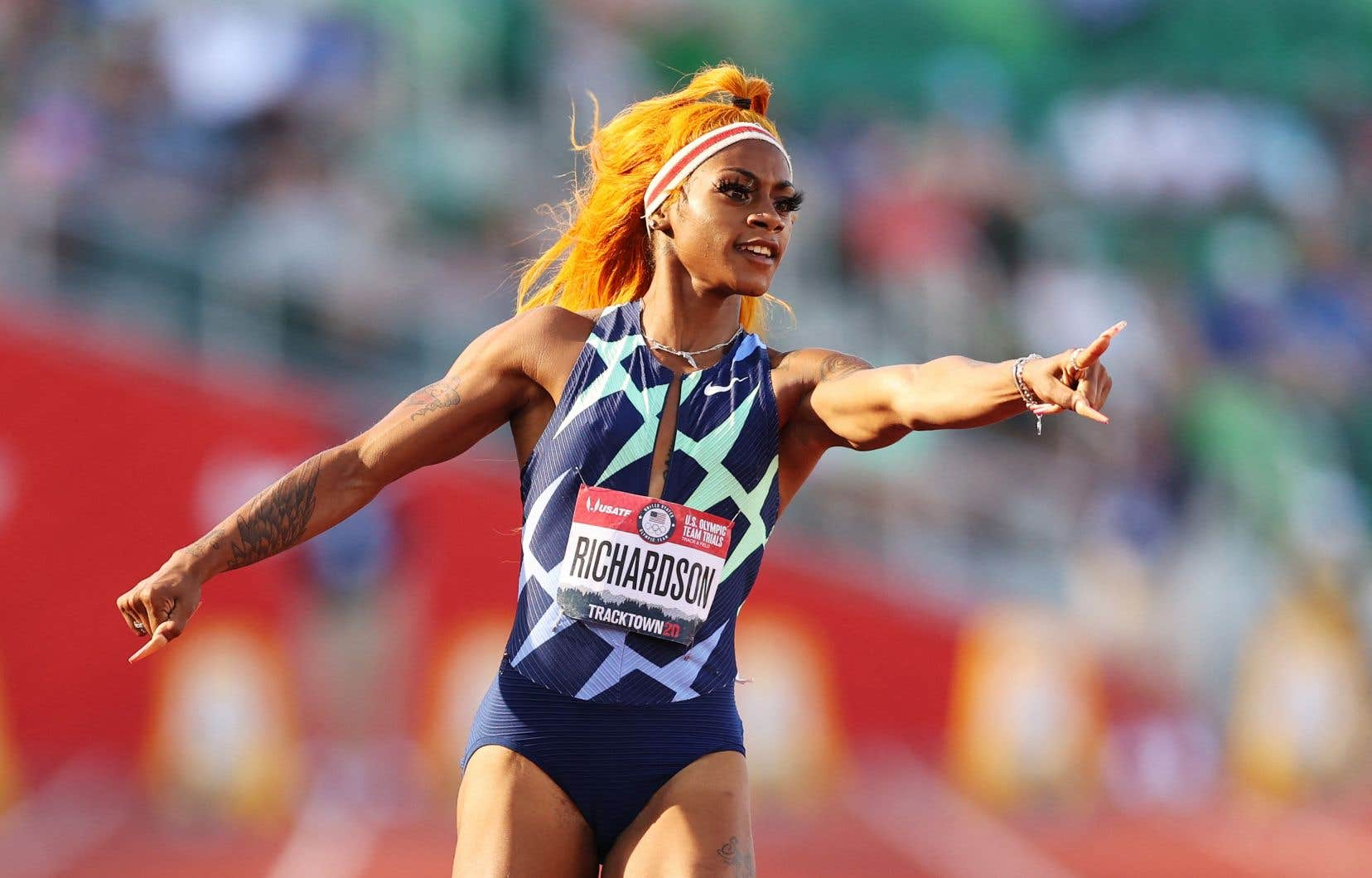 Sha'Carri Richardson a été privée de Jeux à cause d'une suspension de 30 jours consécutive à un dépistage positif à la marijuana lors des essais olympiques américains en juin.