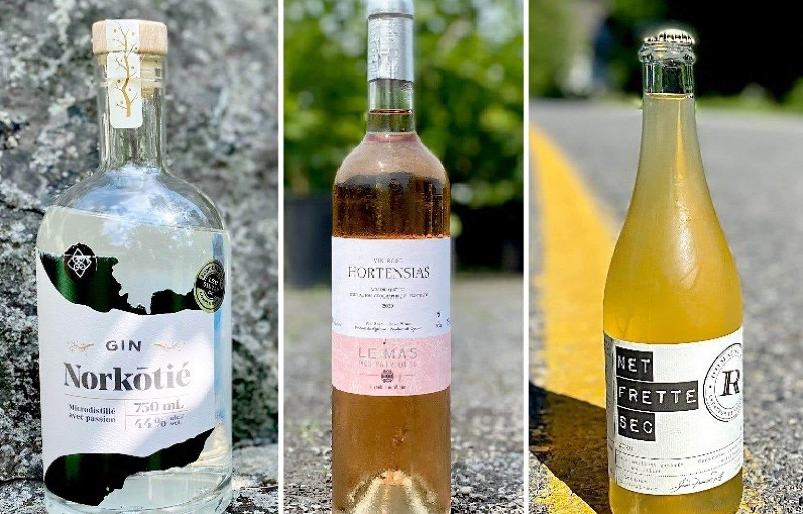 Trois suggestions d'alcools québécois aux accents estivaux.