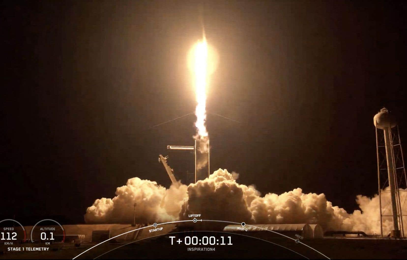 C'est la première mission de l'Histoire à transporterdes passagers privés, sans aucun astronaute.