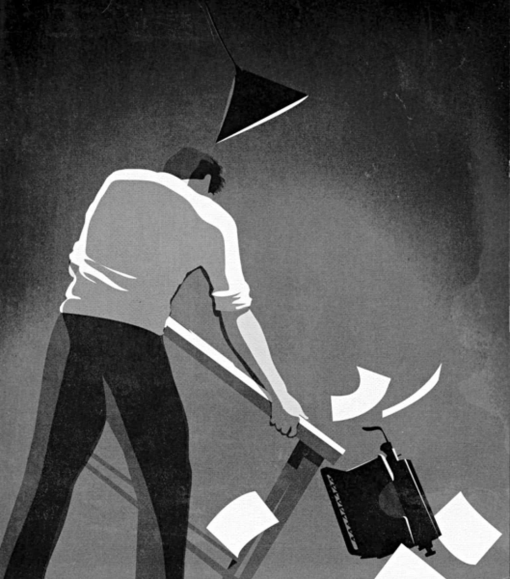 Illustration de Pascal Blanchet pour «Nocturne». <br />