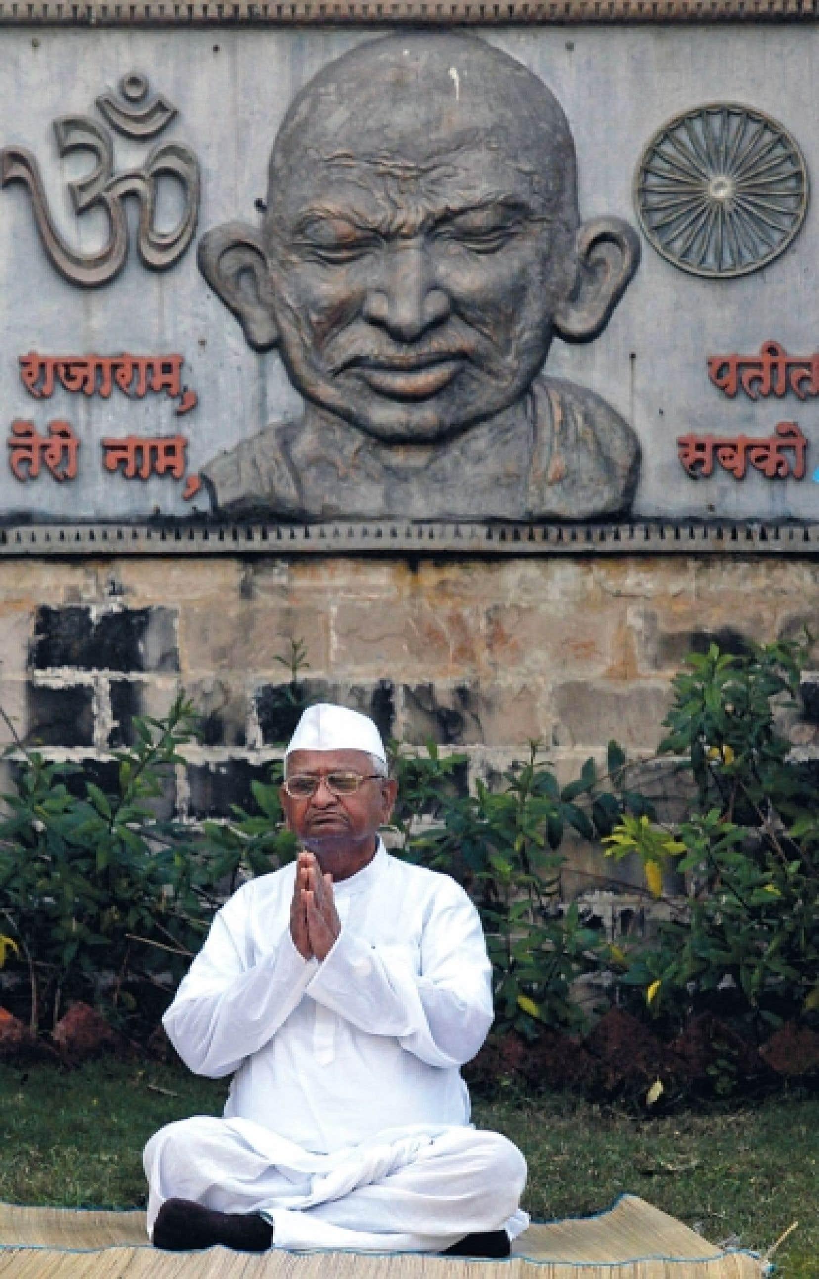 Anna Hazare, hier<br />
