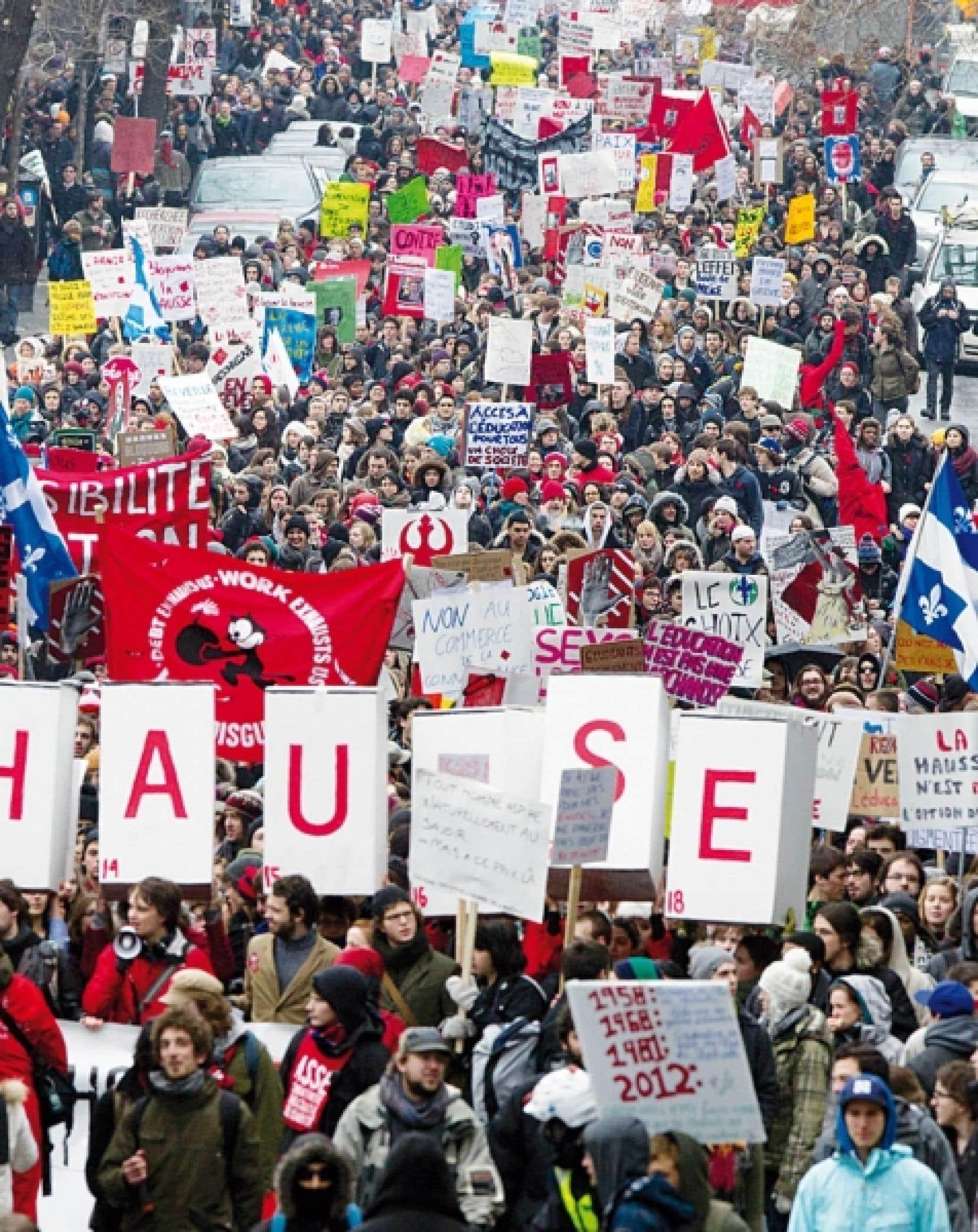 Les &eacute;tudiants ont manifest&eacute; par milliers dans les rues de la m&eacute;tropole la semaine derni&egrave;re.<br />