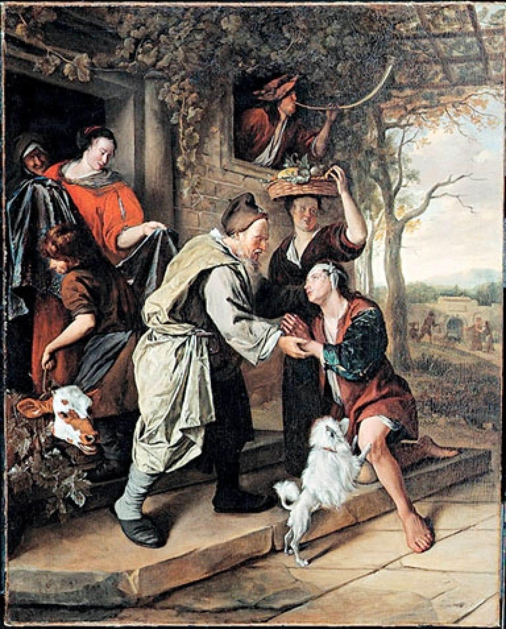 Le retour de l'enfant prodigue, du peintre baroque Jan Steen, est considérée comme le chef-d'œuvre du maître flamand, contemporain de Rembrandt.