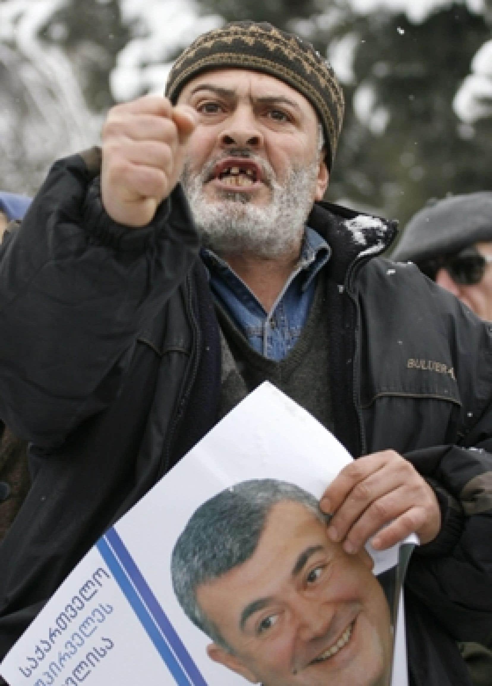 L'opposition a mobilisé entre 5000 et 10 000 partisans dans l'après-midi d'hier à Tbilissi.