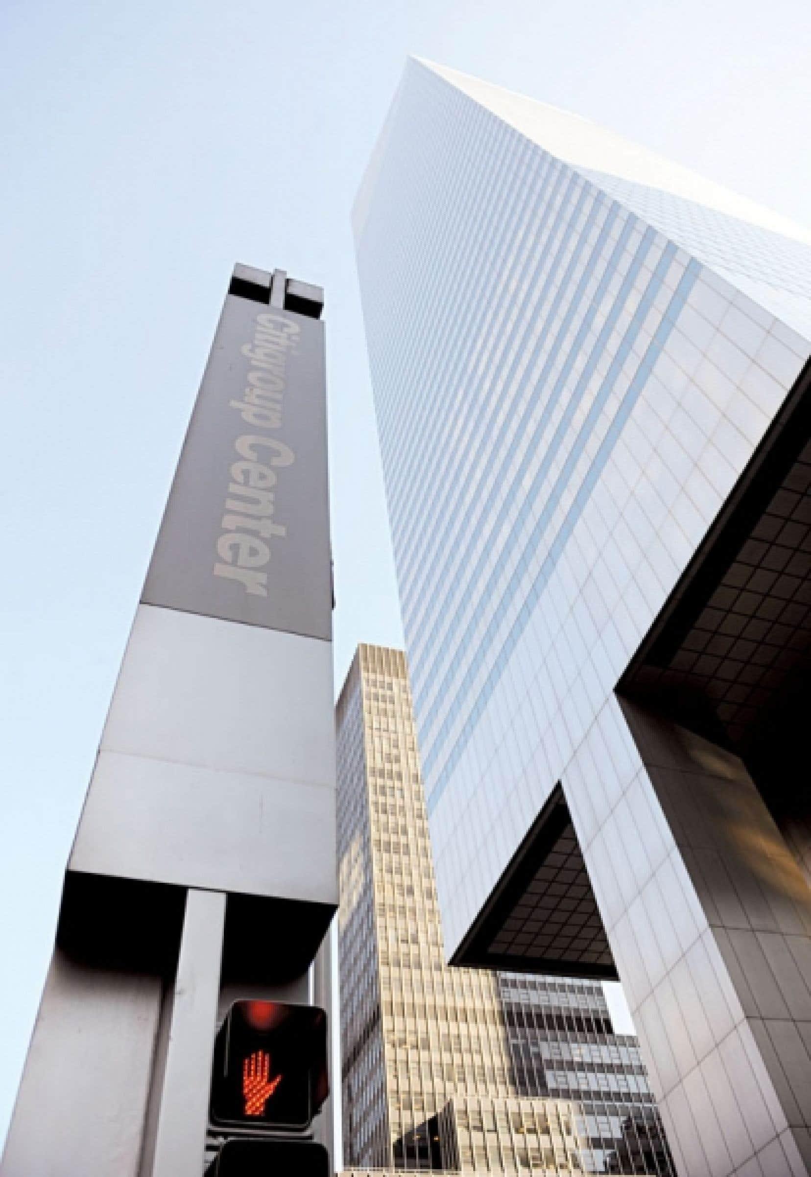 <div> Les tours de Citigroupe à Manhattan</div>