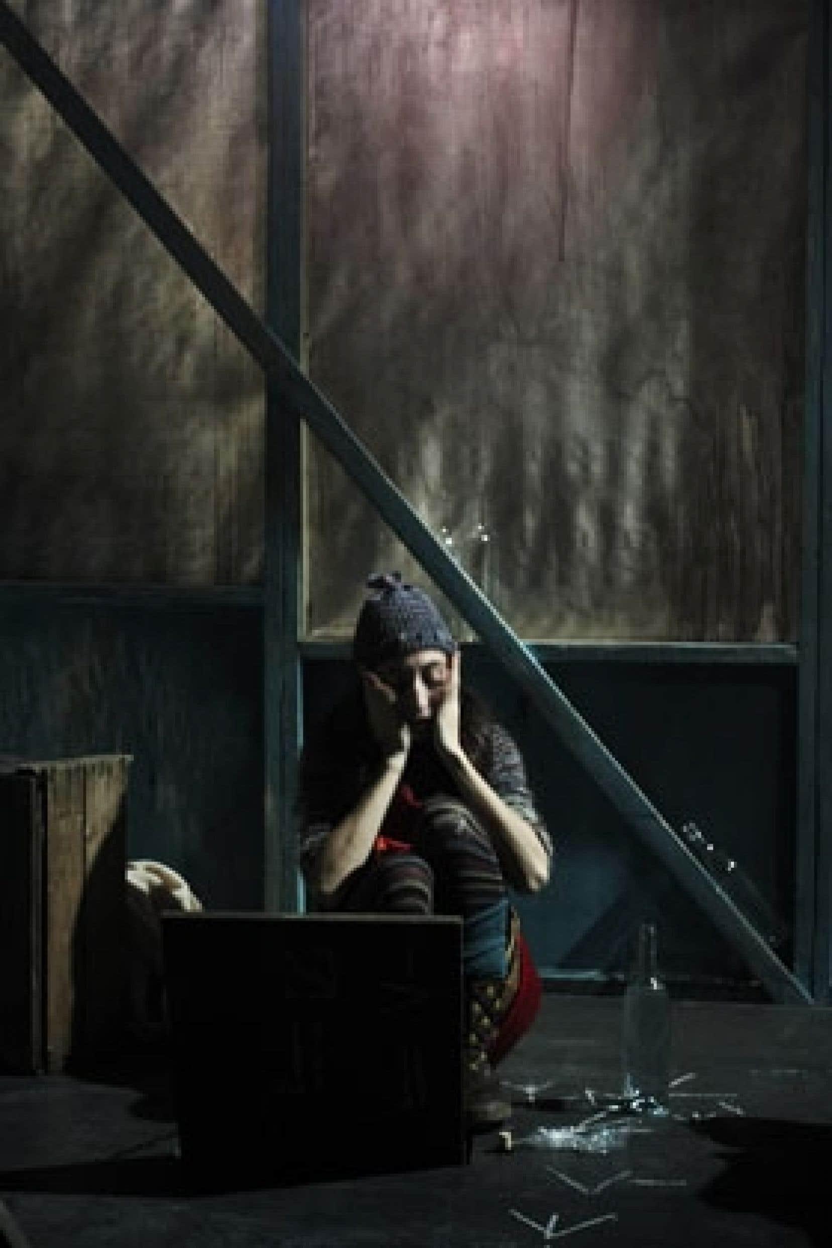 Une scène de la pièce Roche, papier, couteau...Photo: Mathieu Rivard