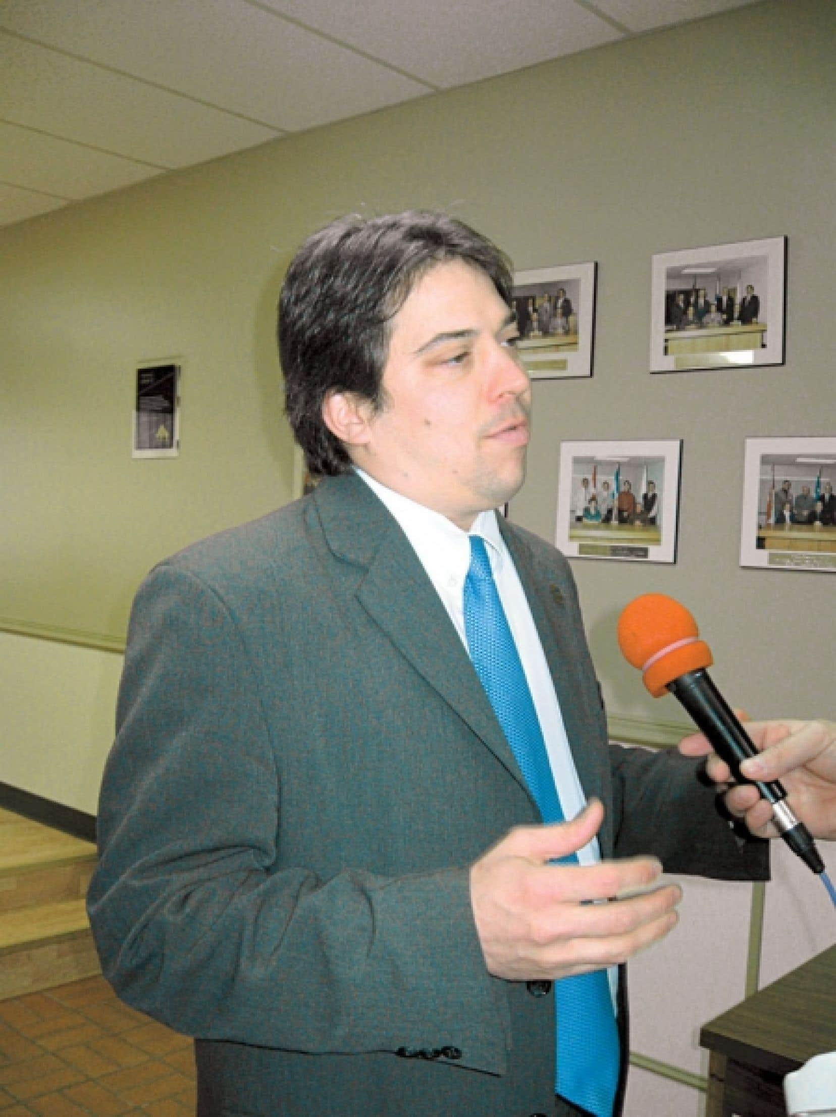 Le maire de Gaspé, François Roussy