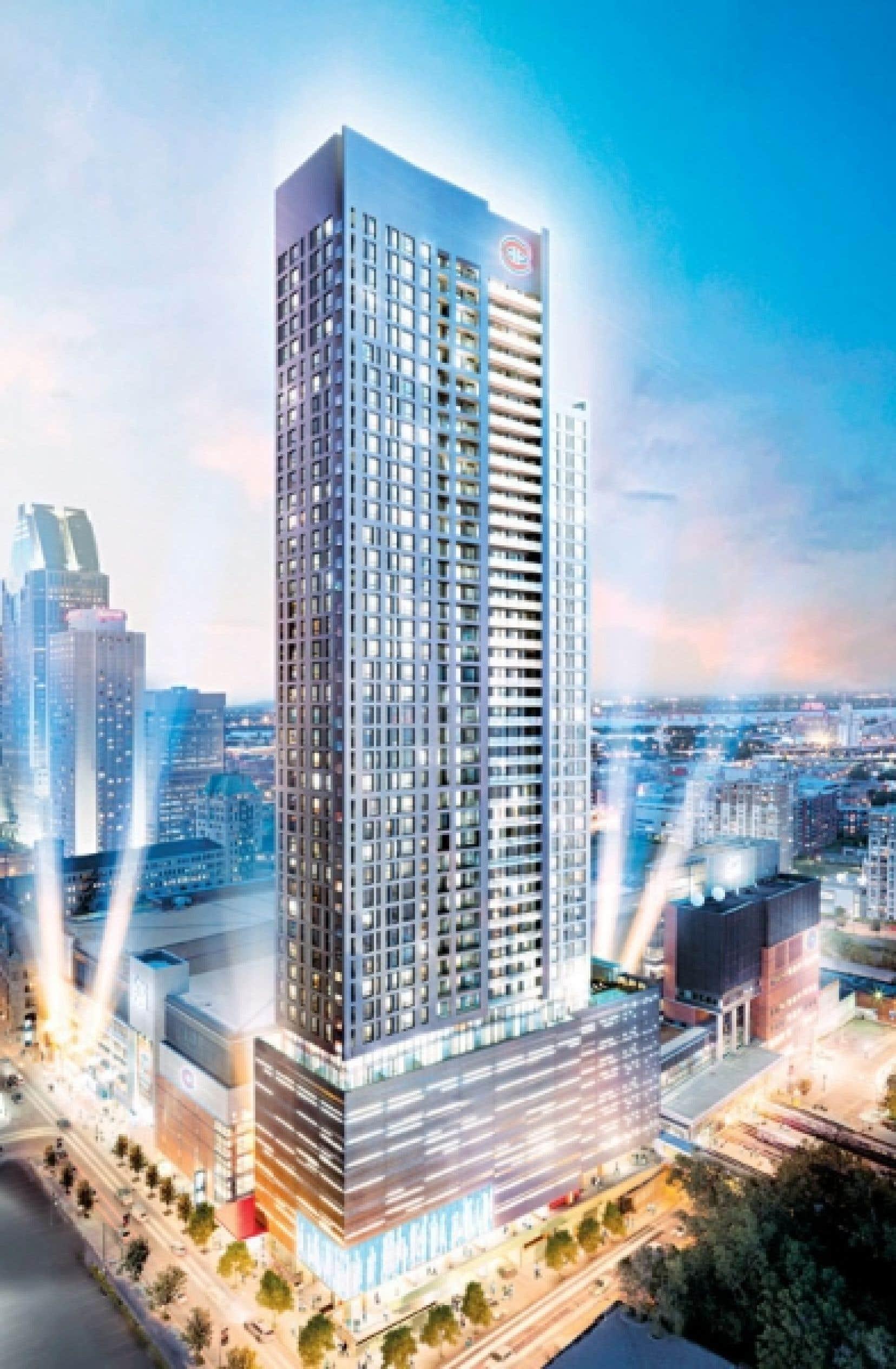 Ce projet de 48 étages abritera 534 logements qui auront une superficie allant de 332 pi2 à 2000 pi2 pour les penthouses.