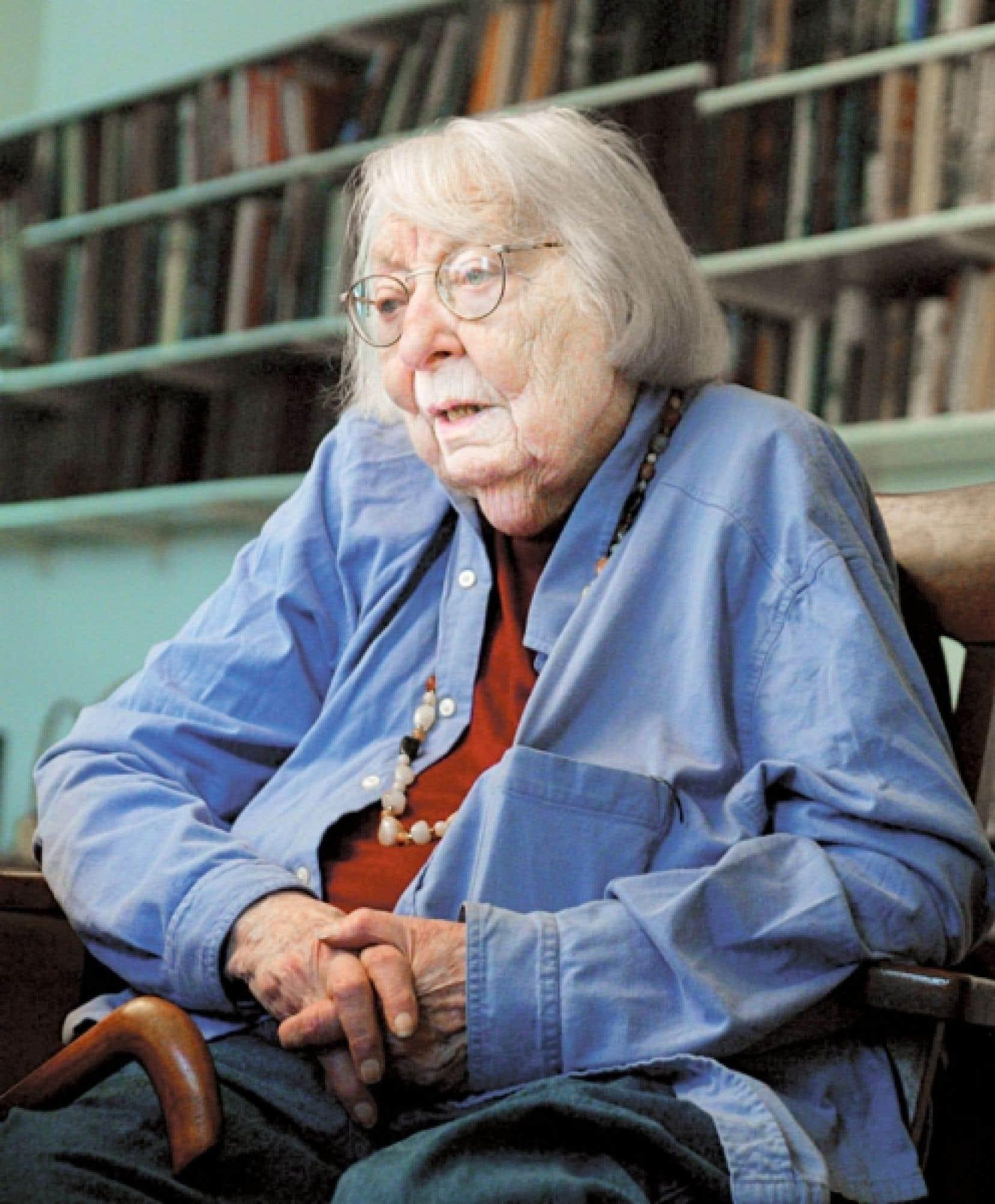 La militante et philosophe de l'architecture et de l'urbanisme Jane Jacobs en 2004