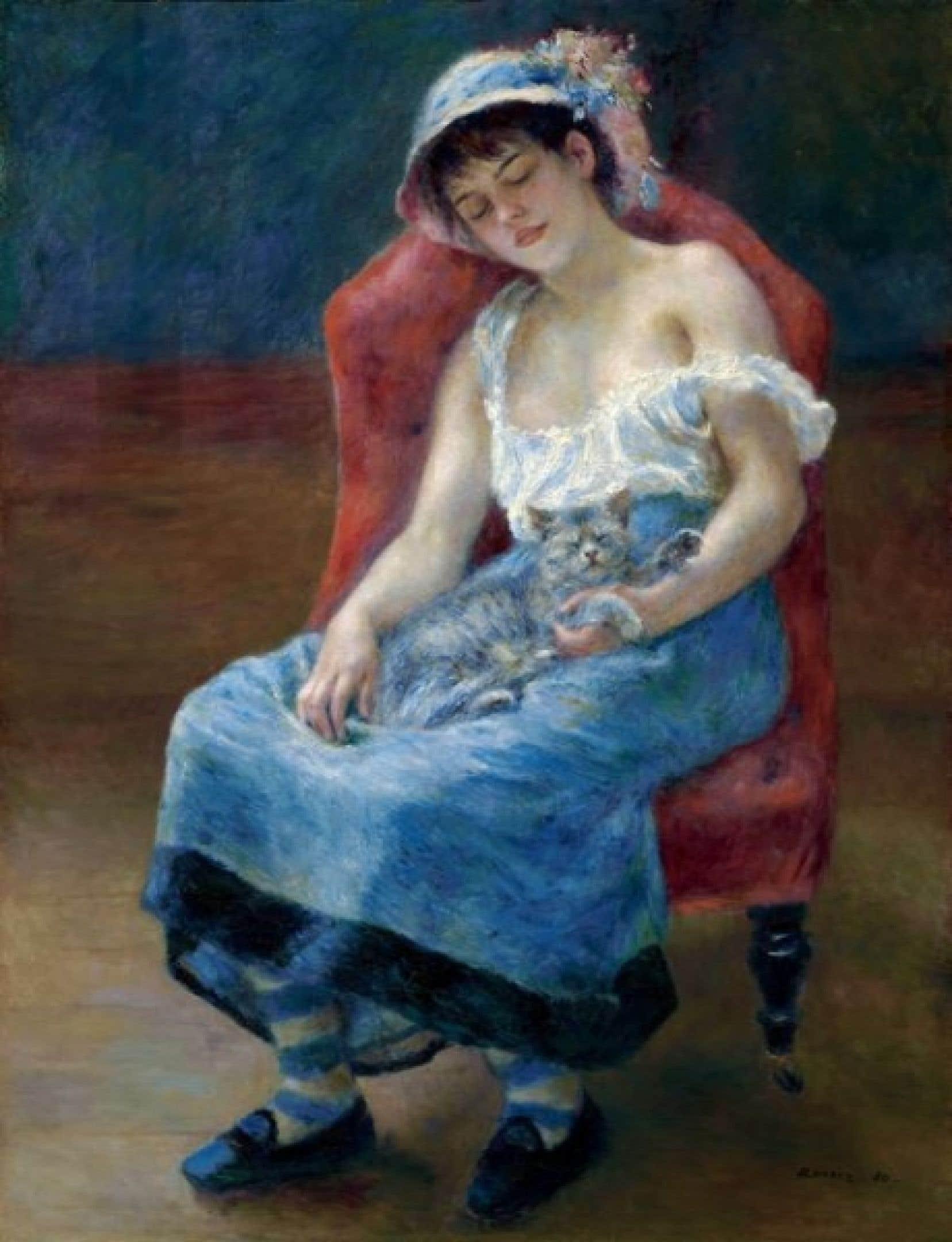 Auguste Renoir, Jeune fille endormie, vers 1880. <br />