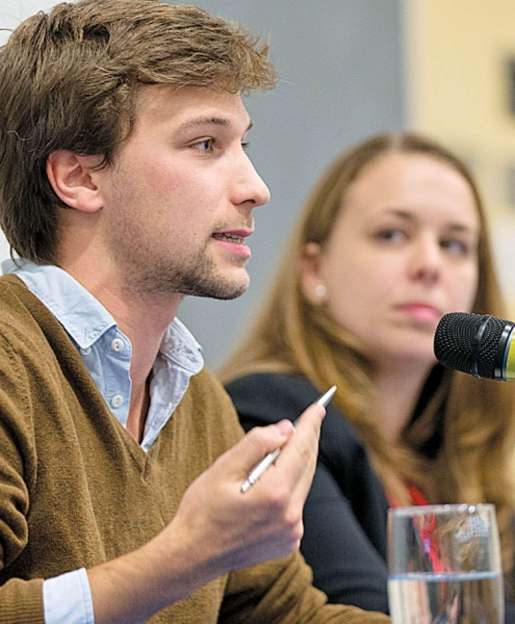 L'ex-leader de la CLASSE, Gabriel Nadeau-Dubois, et l'actuelle présidente de la FEUQ, Martine Desjardins