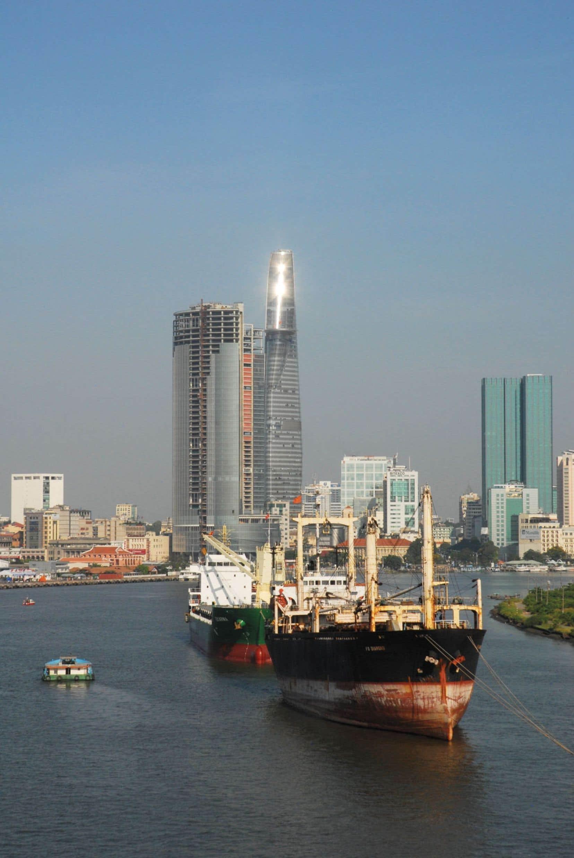 Hô Chi Minh-Ville et le fleuve Saigon