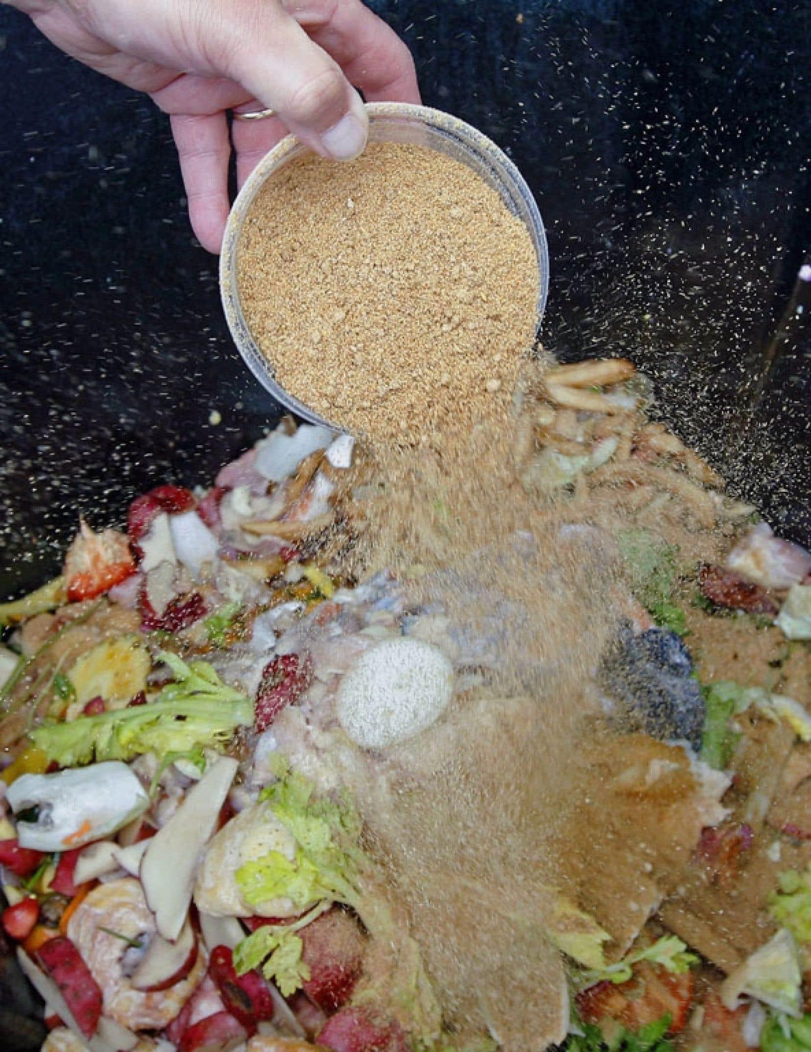 À Concordia, 80 tonnes de matières putrescibles sont compostées chaque année.