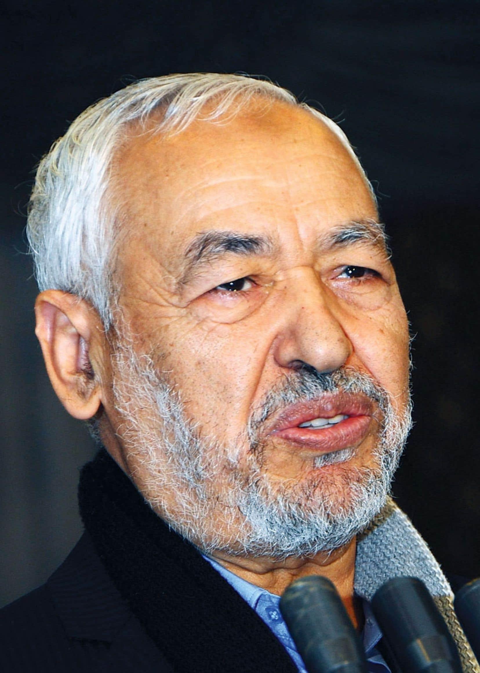 Le chef du parti islamiste Ennahda, Rached Ghannouchi