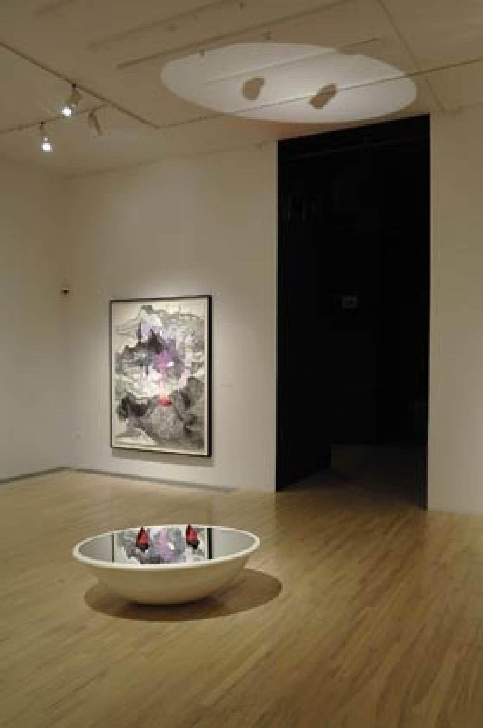 Vue d'une partie de l'exposition de Catherine Bolduc au centre Expression