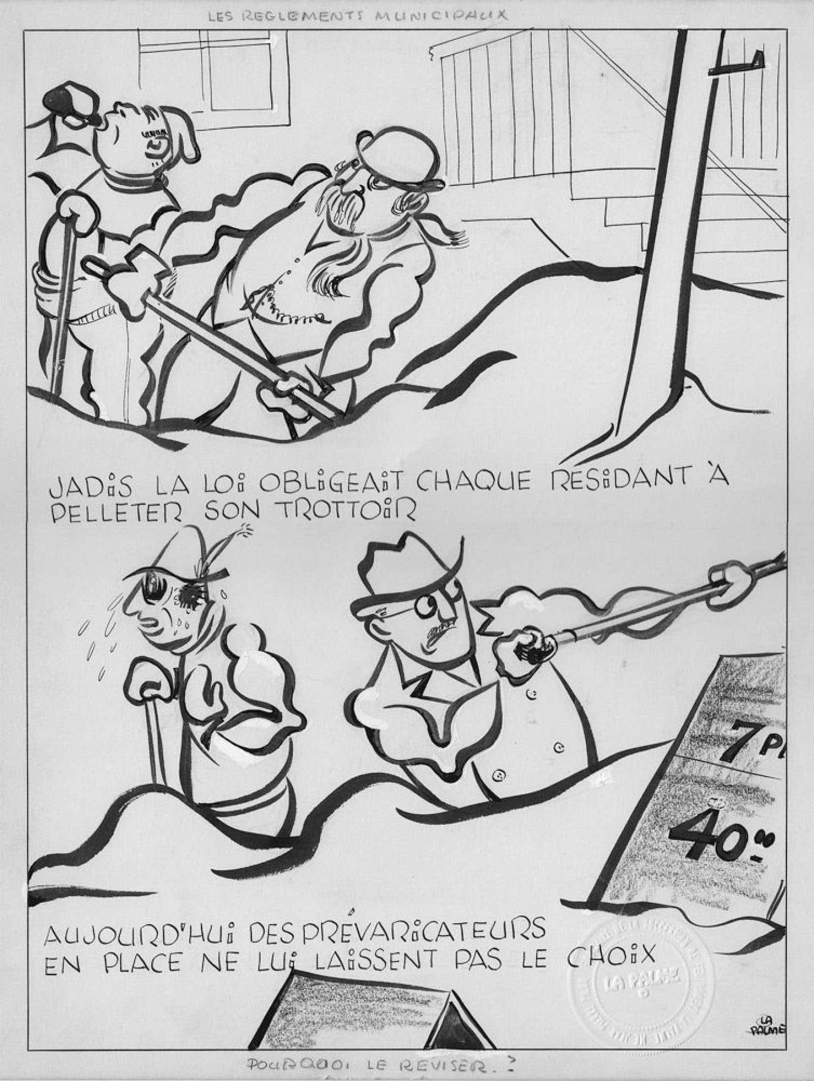 Clin d'œil amusant, ledit prix, qui consiste en une œuvre originale du grand artiste montréalais qui a donné ses lettres de noblesse à la caricature politique, a été publié il y a plusieurs décennies dans les pages du Devoir là même où sévit Garnotte tous les jours depuis 1996.