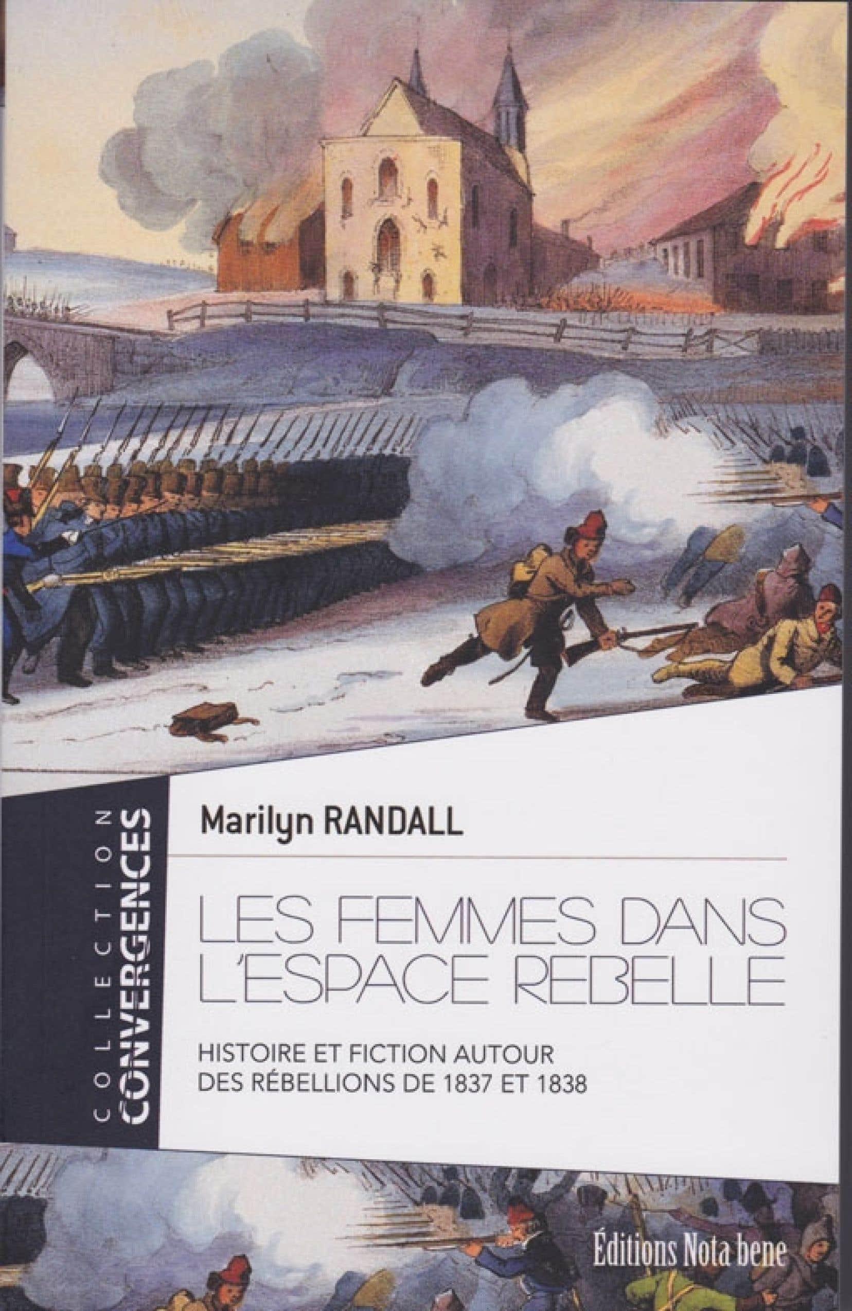 Un détail de la couverture des Femmes dans l'espace rebelle, de Marilyn Randall.