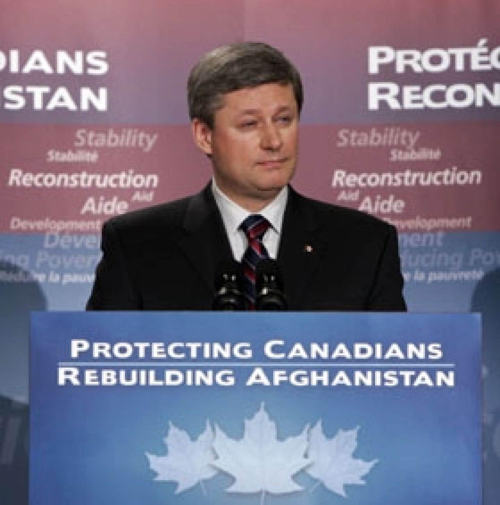 Stephen Harper a annoncé un accroissement du soutien canadien à la reconstruction de l'Afghanistan.