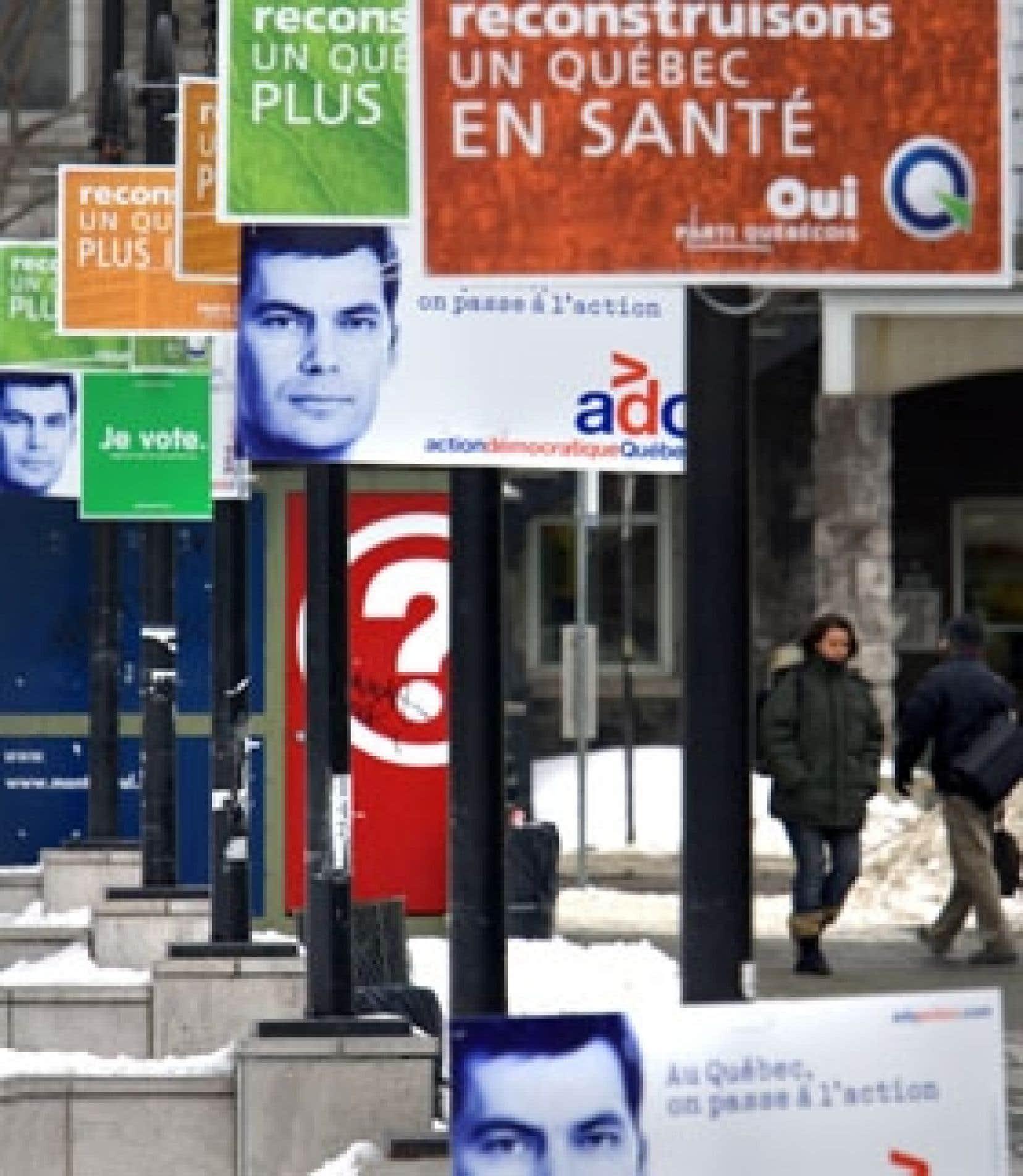 La livraison des pancartes des candidats locaux du Parti québécois s'est fait attendre dans bon nombre de circonscriptions, tant et si bien que plusieurs équipes de bénévoles mobilisées pour l'installation des pancartes sont reparties bredouill