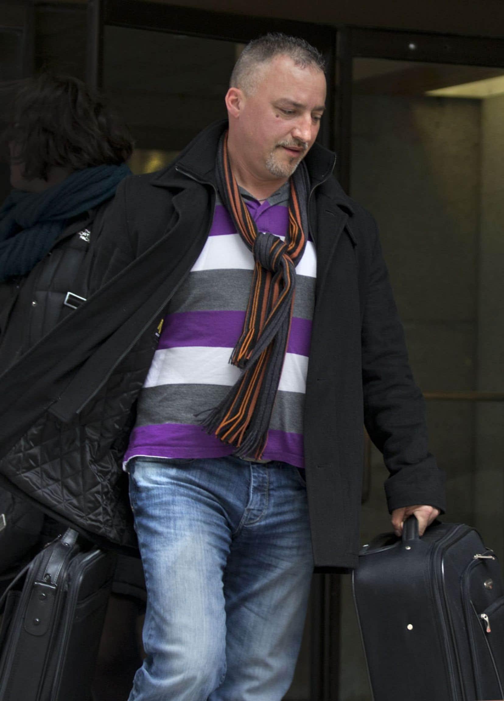 Bernard «Rambo» Gauthier est rentré chez lui après son témoignage à la commission Charbonneau.