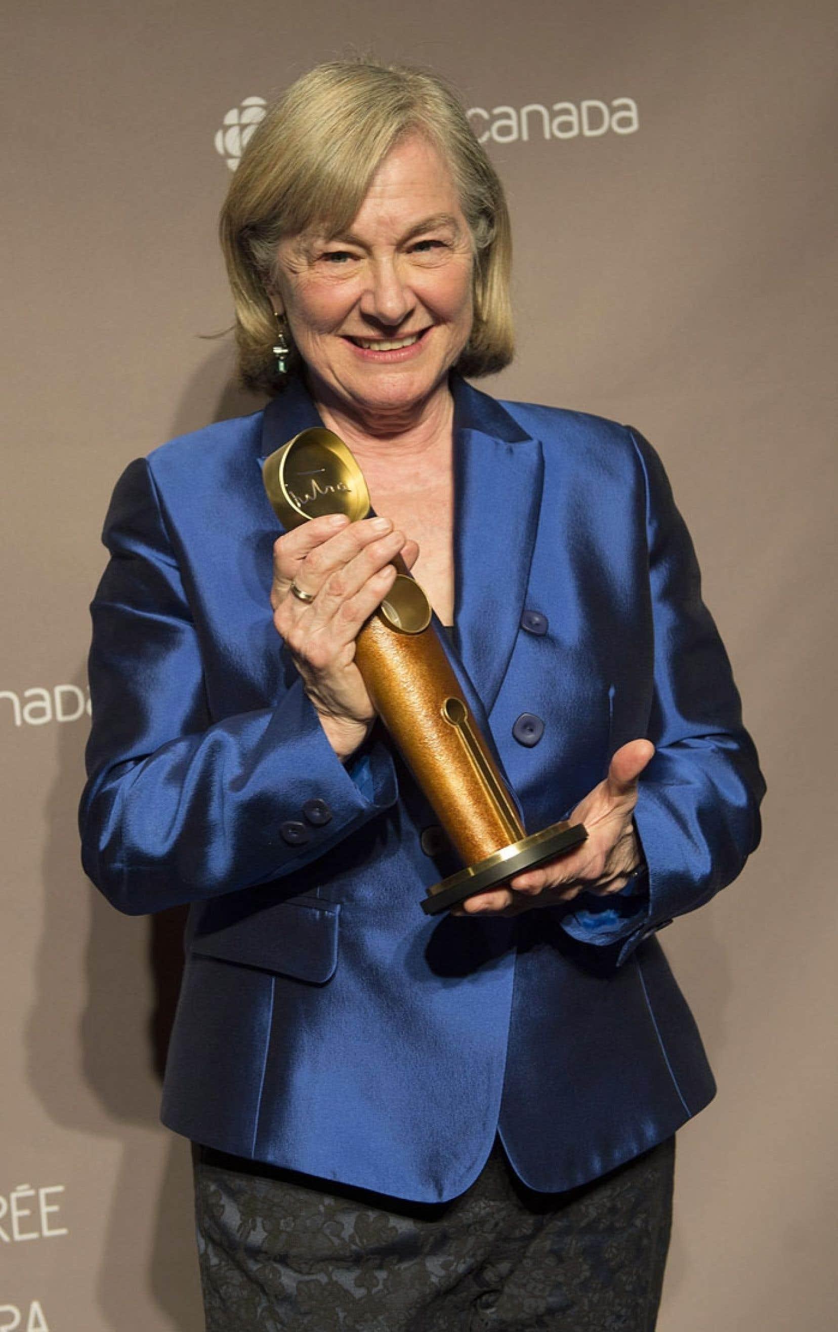Micheline Lanctôt a reçu le Jutra hommage dimanche pour l'ensemble de sa carrière comme actrice et réalisatrice.