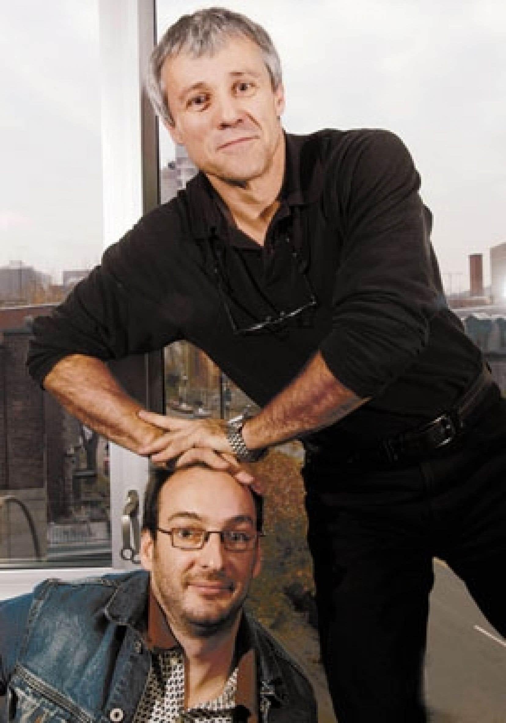 Jean-François Pouliot (en haut) et Ken Scott