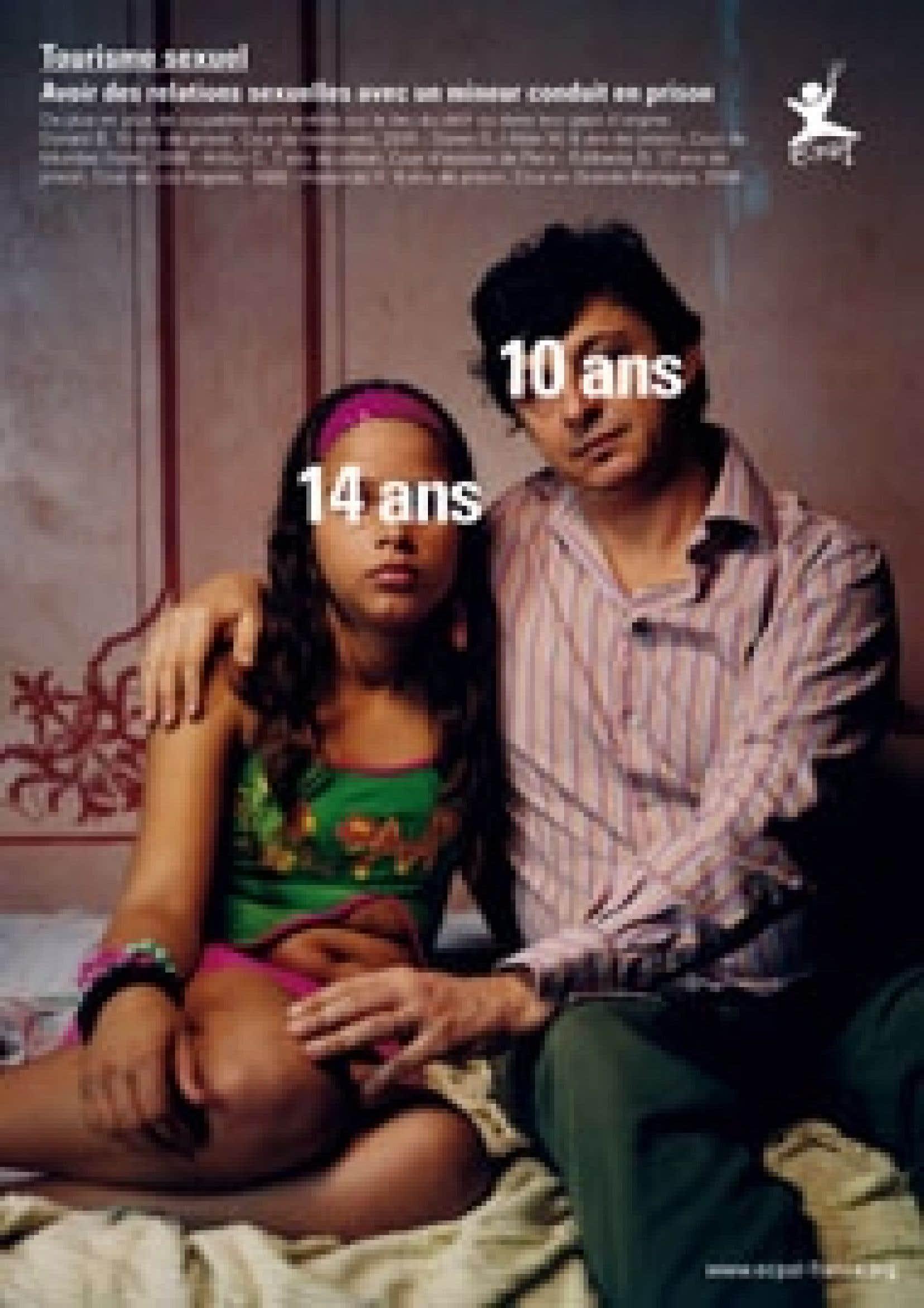 L'affiche de la campagne de l'organisme End Child Prostitution, Child Pornography and Trafficking of Children for Sexual Purposes. Photos: Taryn Simon, BETC Euro RSCG/Air France