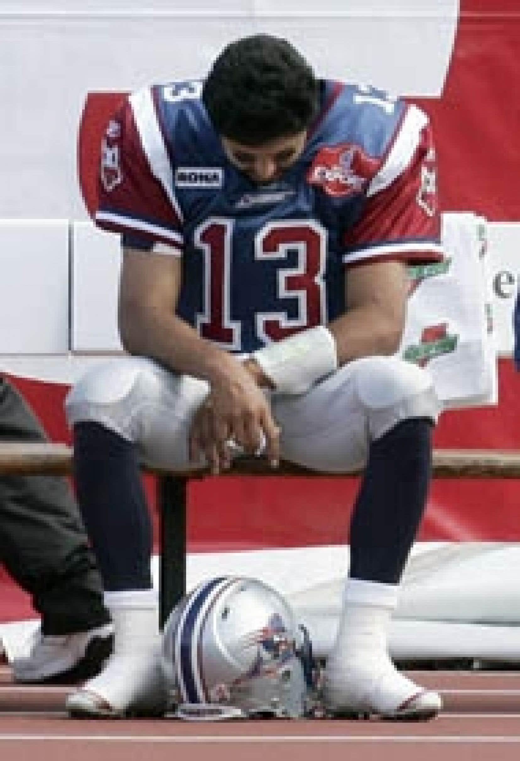 Anthony Calvillo, des Alouettes, s'est fait huer à plusieurs reprises lors du match d'hier.