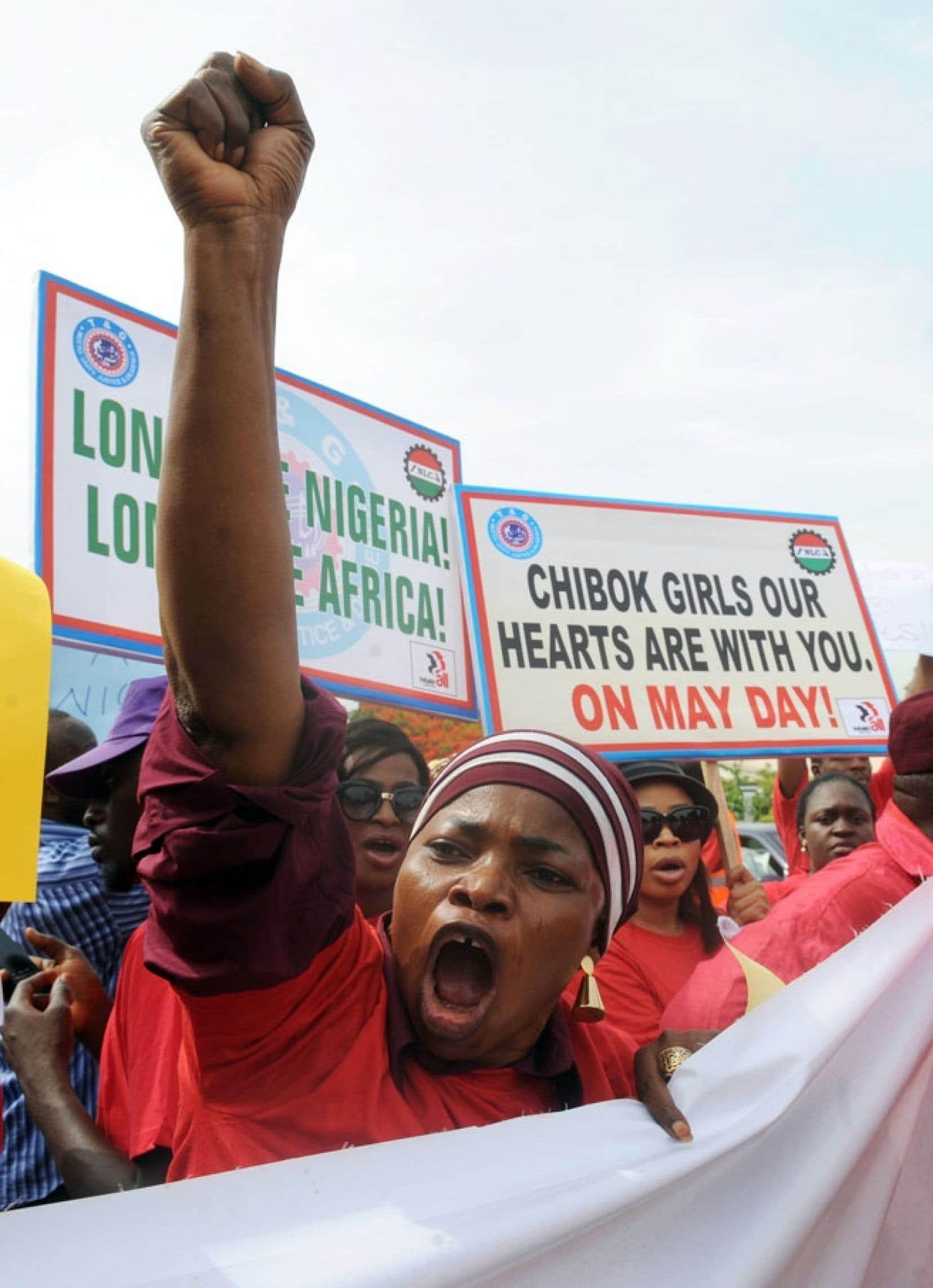 Une autre manifestation contre Boko Haram s'est déroulée mardi à Abuja.