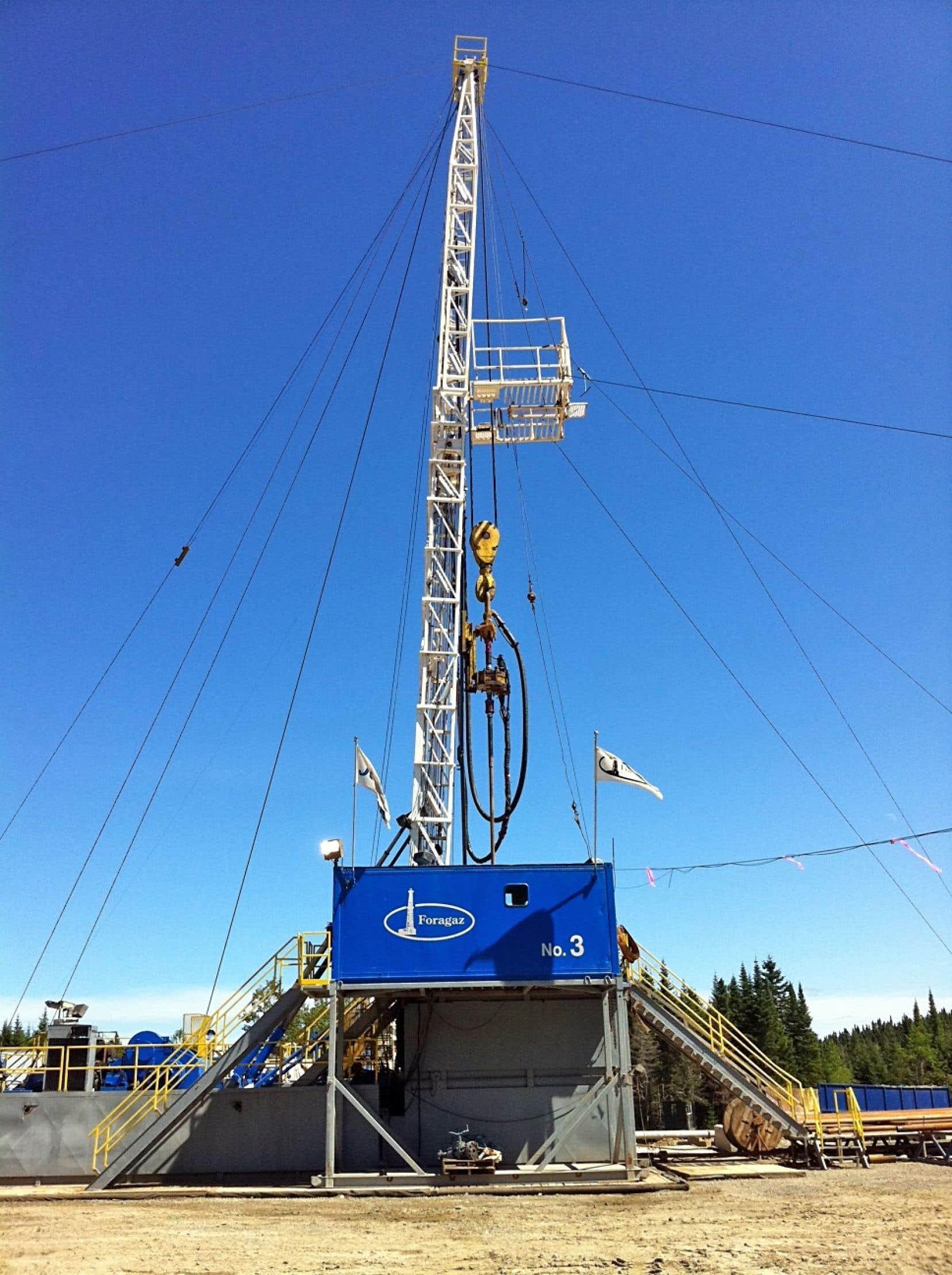 Le puits de forage Galt #4, près de Gaspé