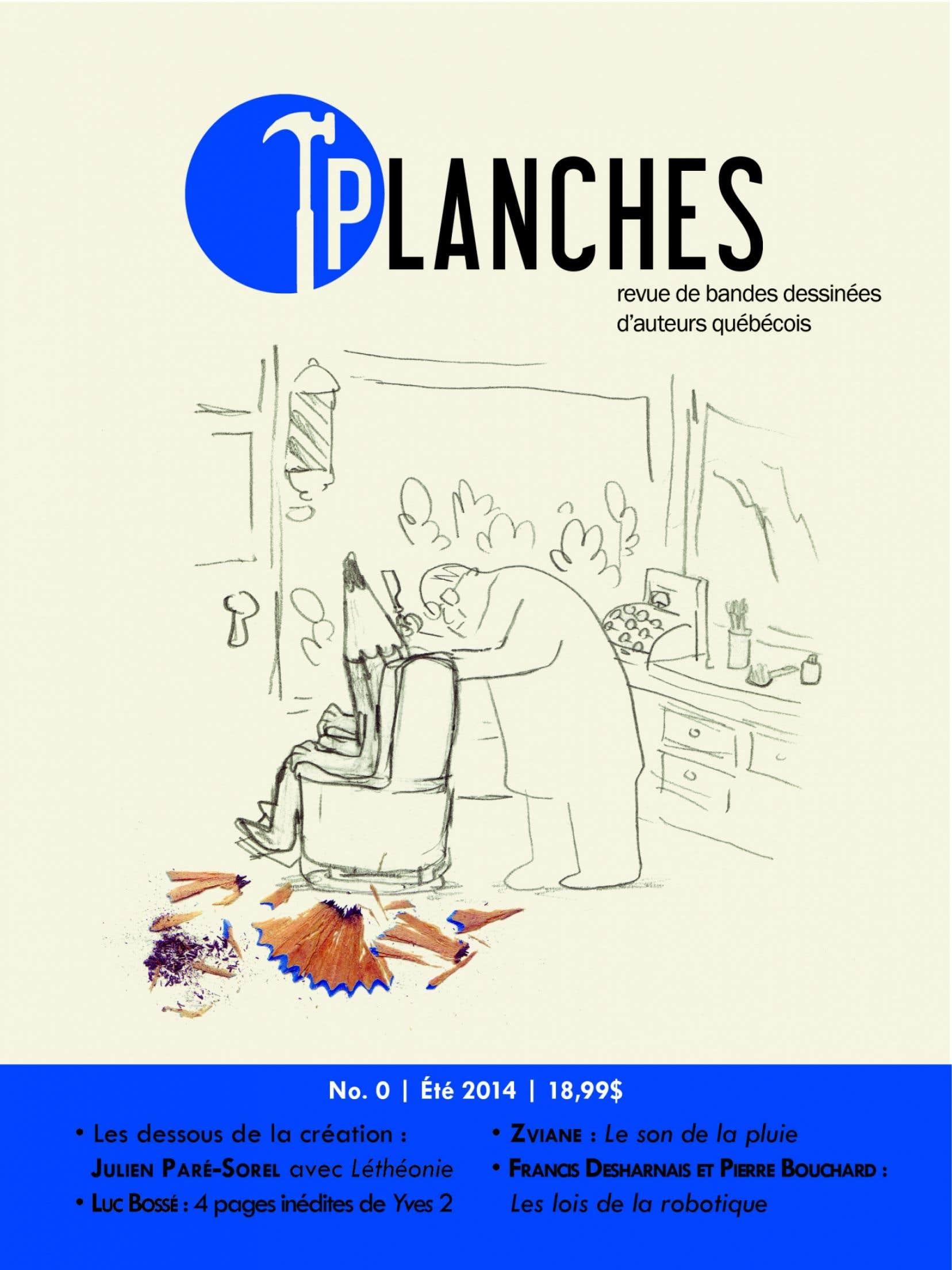 Maquette de la première couverture de Planches