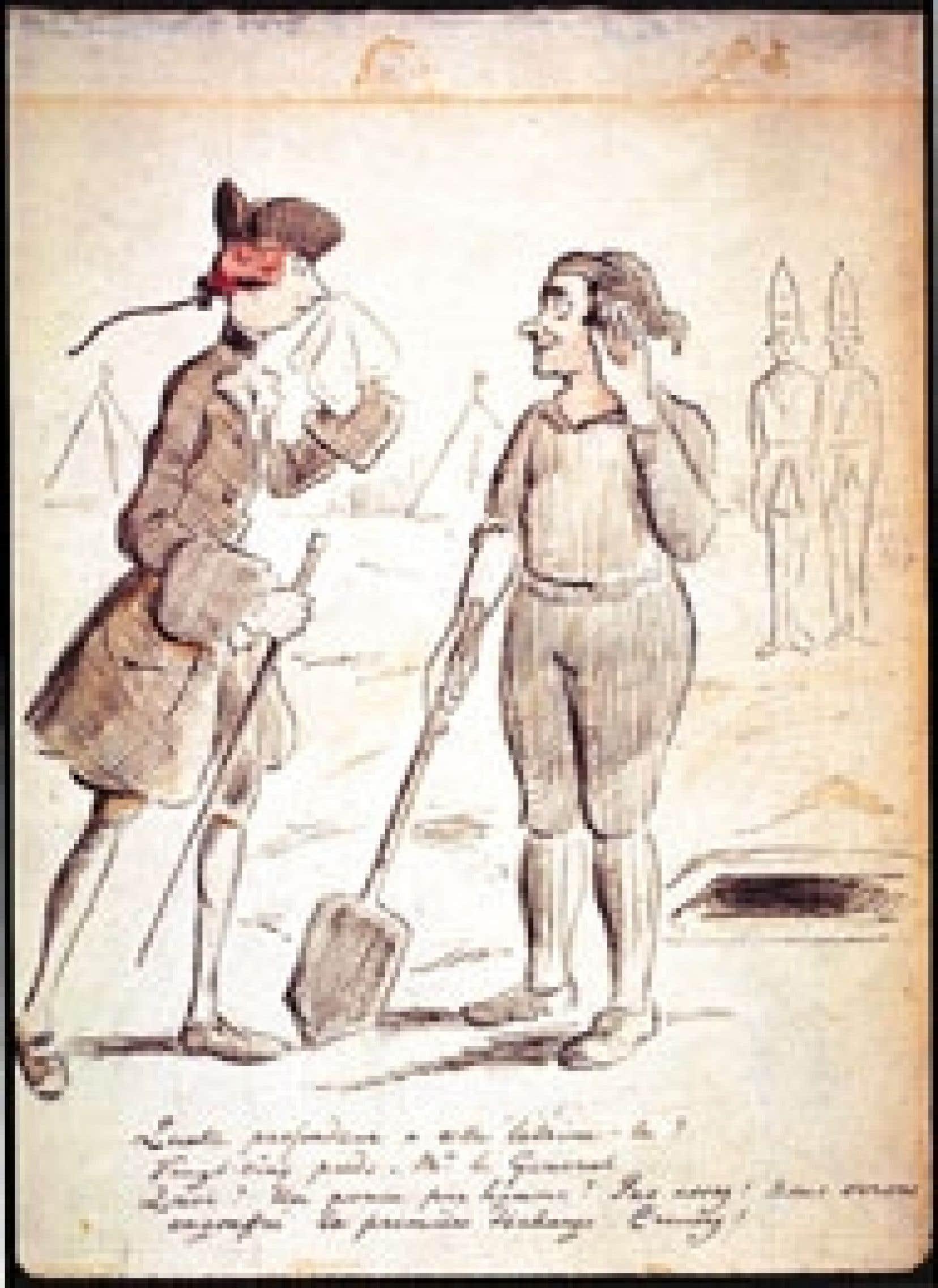 Le général James Wolfe à Québec, 1759, George Townshend. Source: Musée McCord