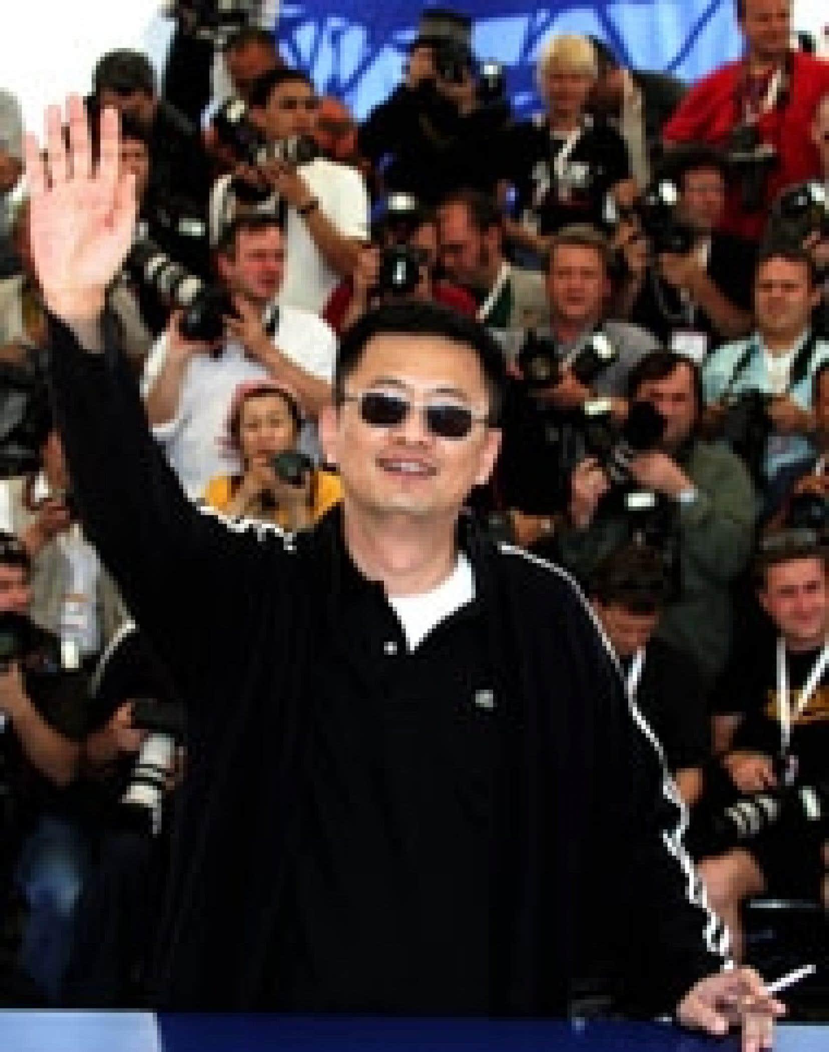 Wong Kar Wai lors du Festival de Cannes en 2004.
