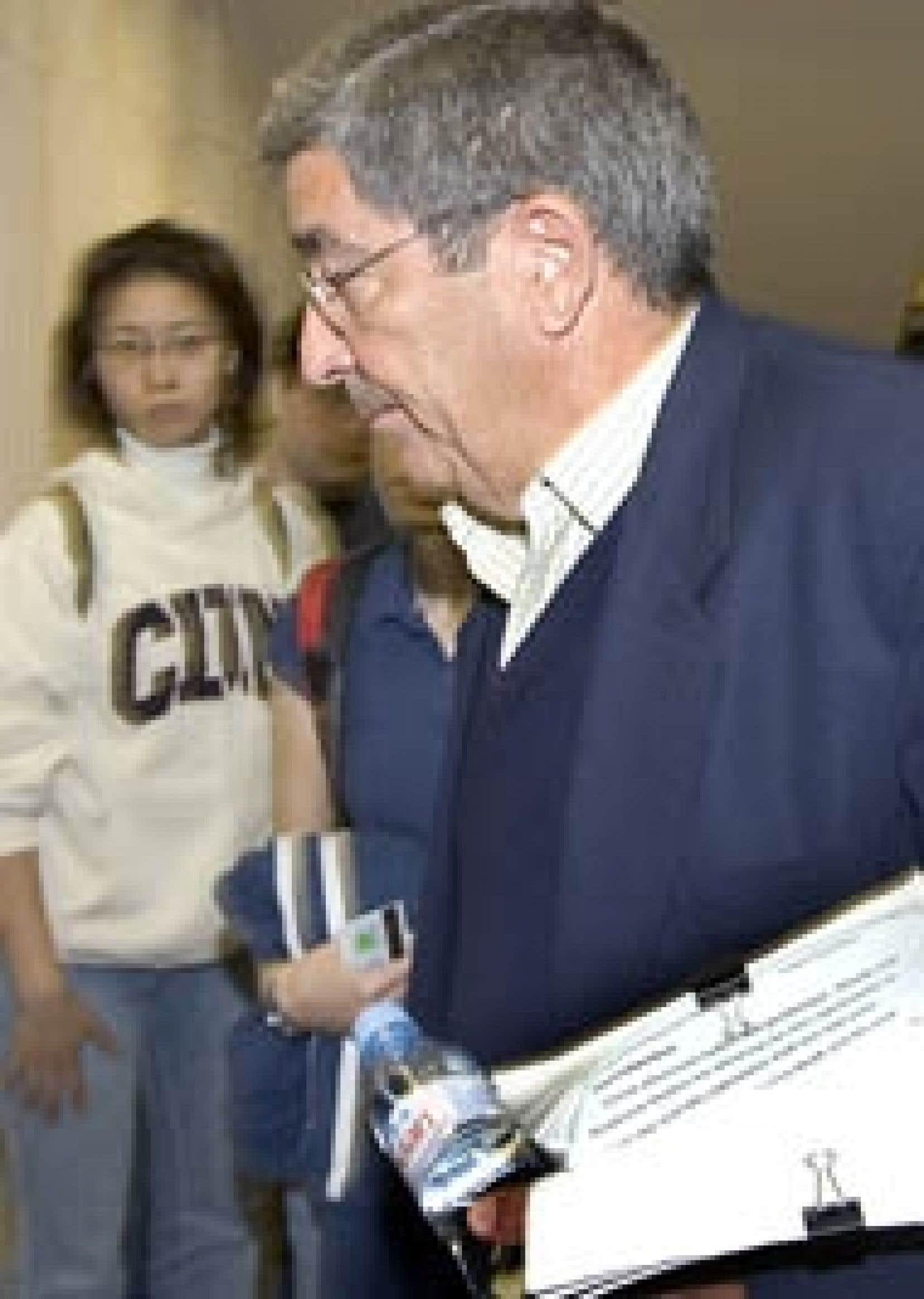 Paul Coffin à son arrivée à l'université McGill où il a raconté sa triste expérience en affaires.