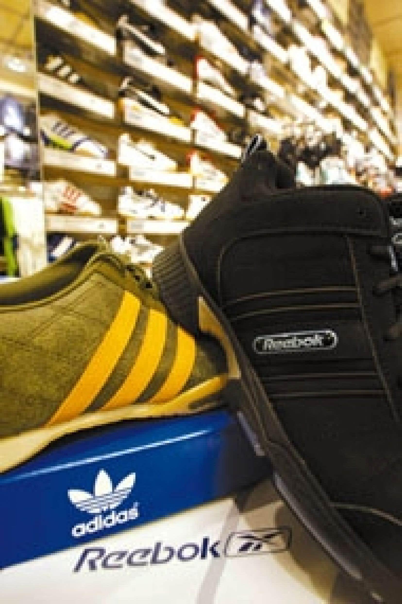 Source: DAVID HECKER Agence France-Presse Adidas rachètera son concurrent américain Reebok International pour un montant de 3,8 milliards $US.