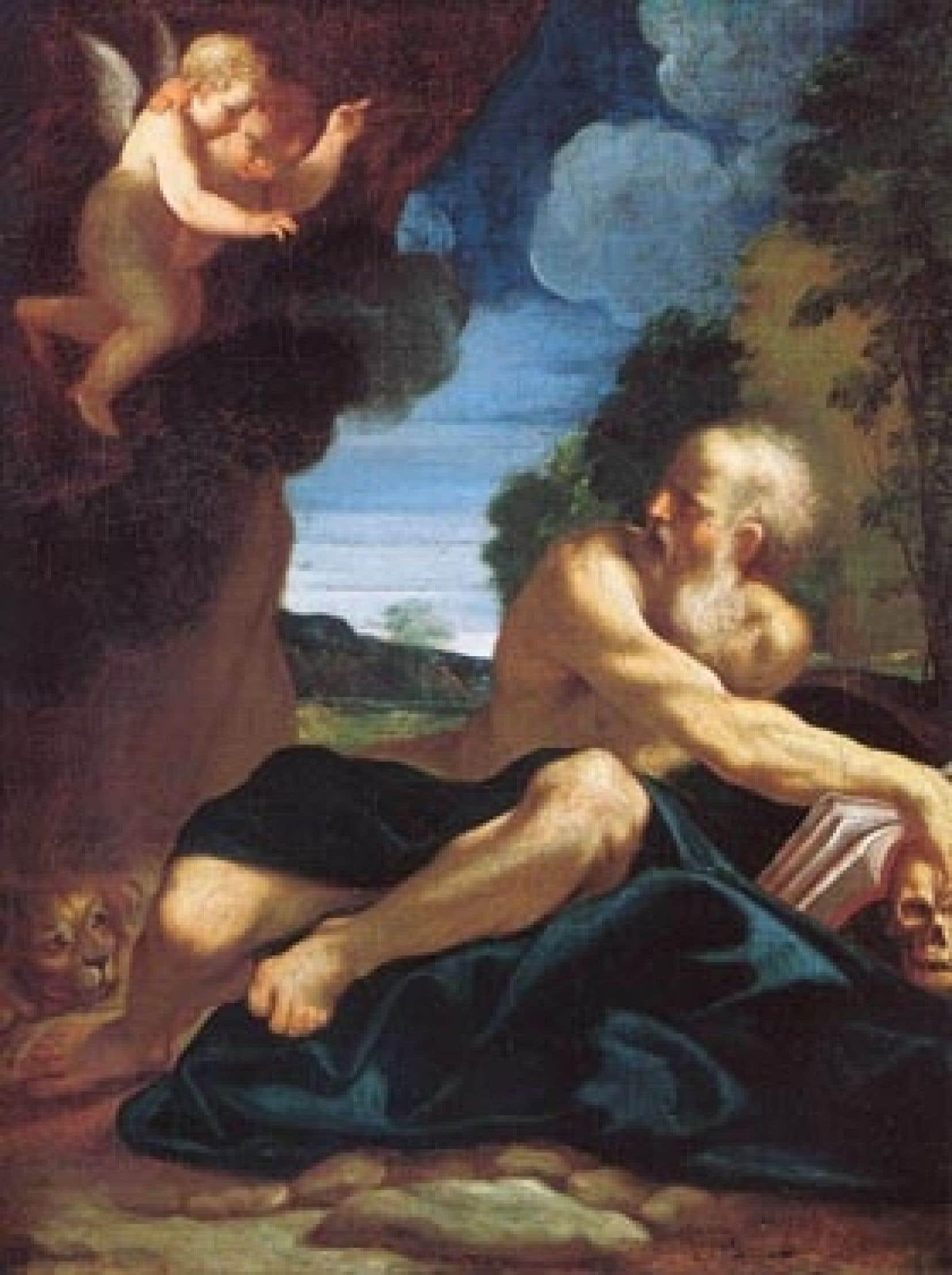 L'oeuvre représente un saint Jérôme du peintre italien baroque Ludovico Carracci.