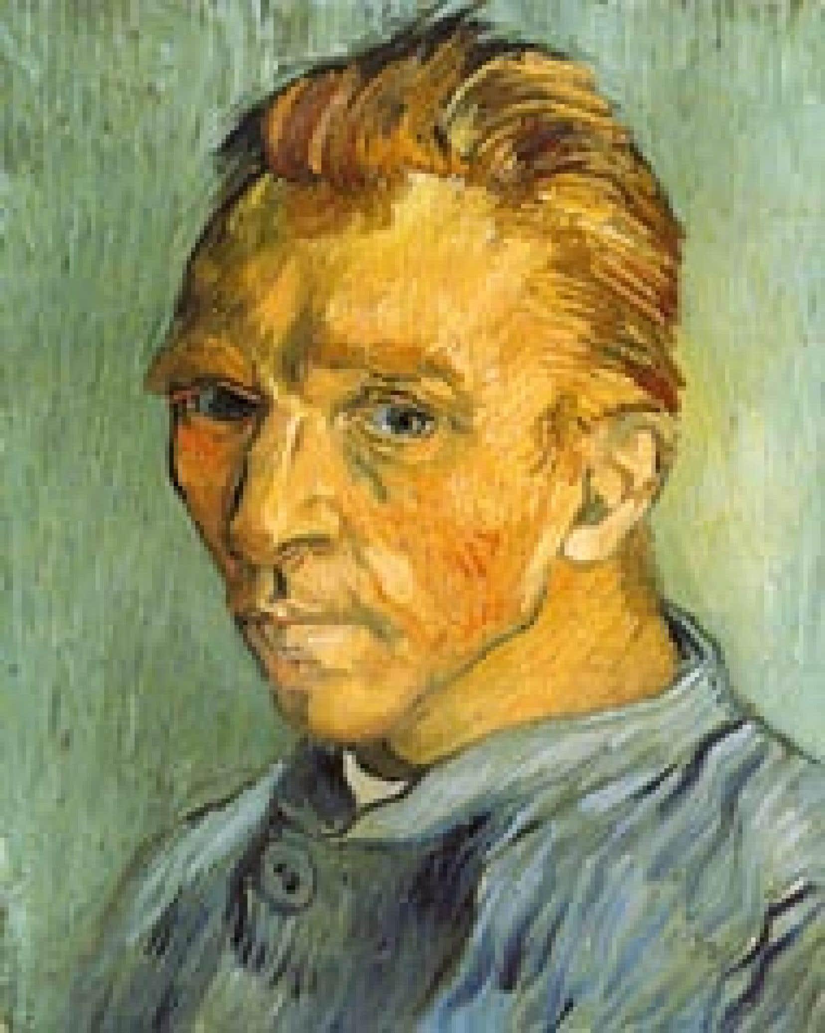 Un autoportrait de Van Gogh: Portrait de l'artiste sans barbe.