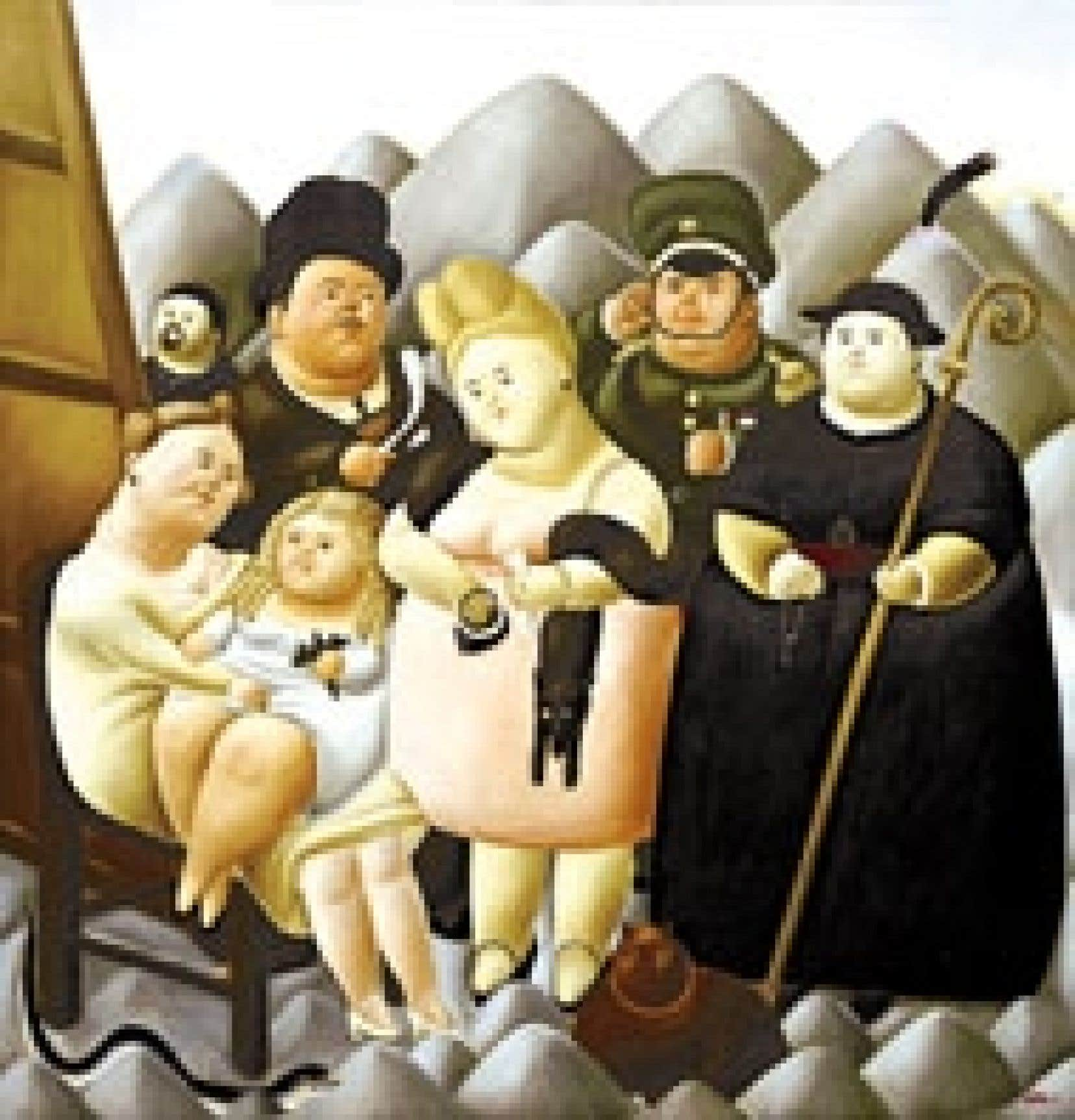 La Famille présidentielle (1967), de Fernando Botero.