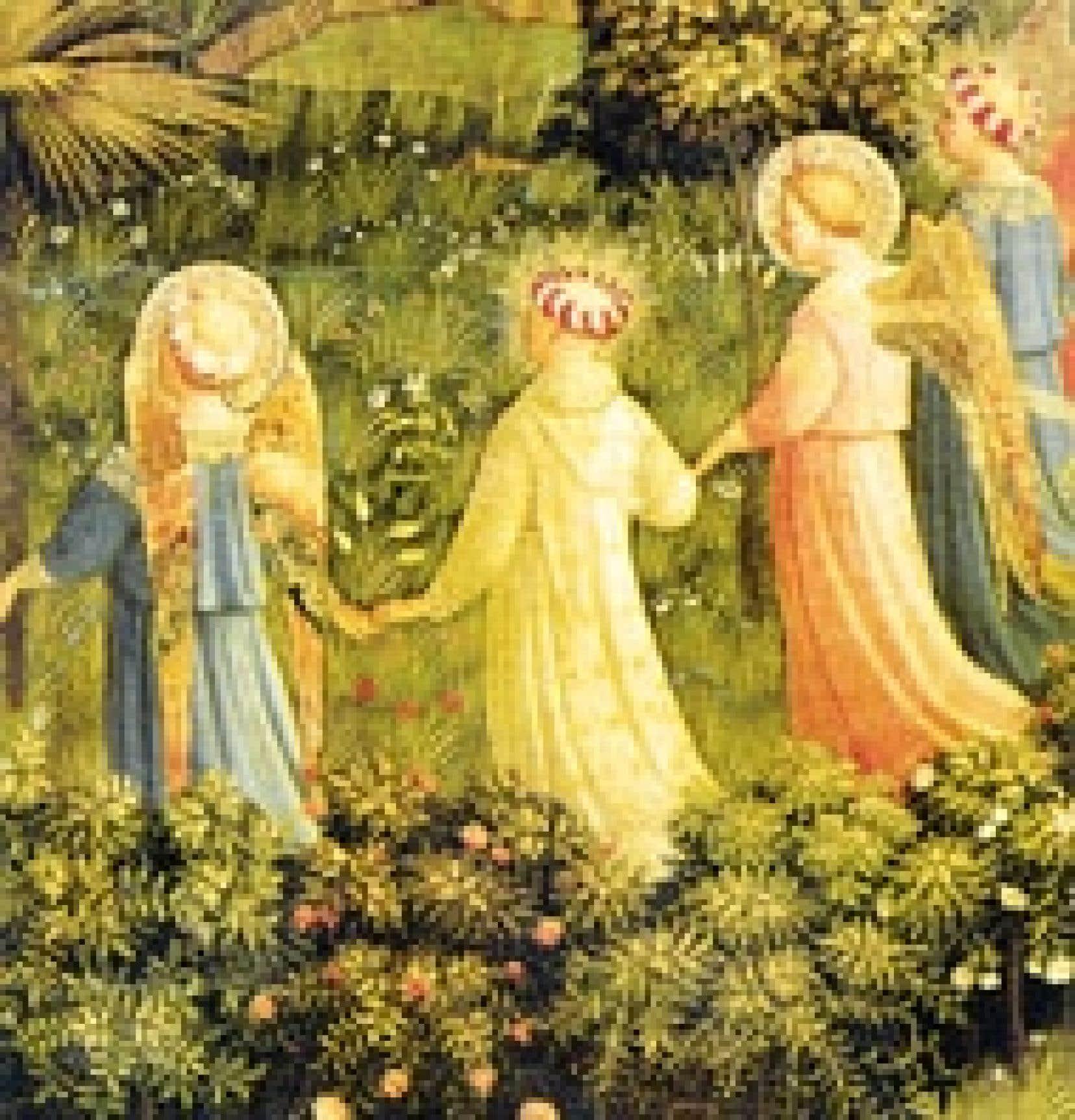 Nul doute que le pape sera invité au paradis en pieuse compagnie. Illustration tirée d'Angels, Gilles Néret, «Icons», Taschen (de même que la photo ci-dessus).