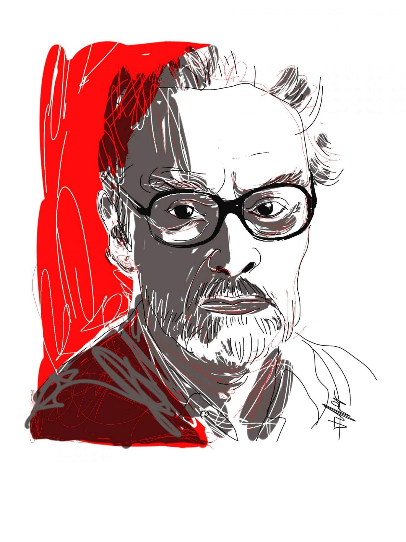 L'écrivain italien, Primo Levi (1919-1987)