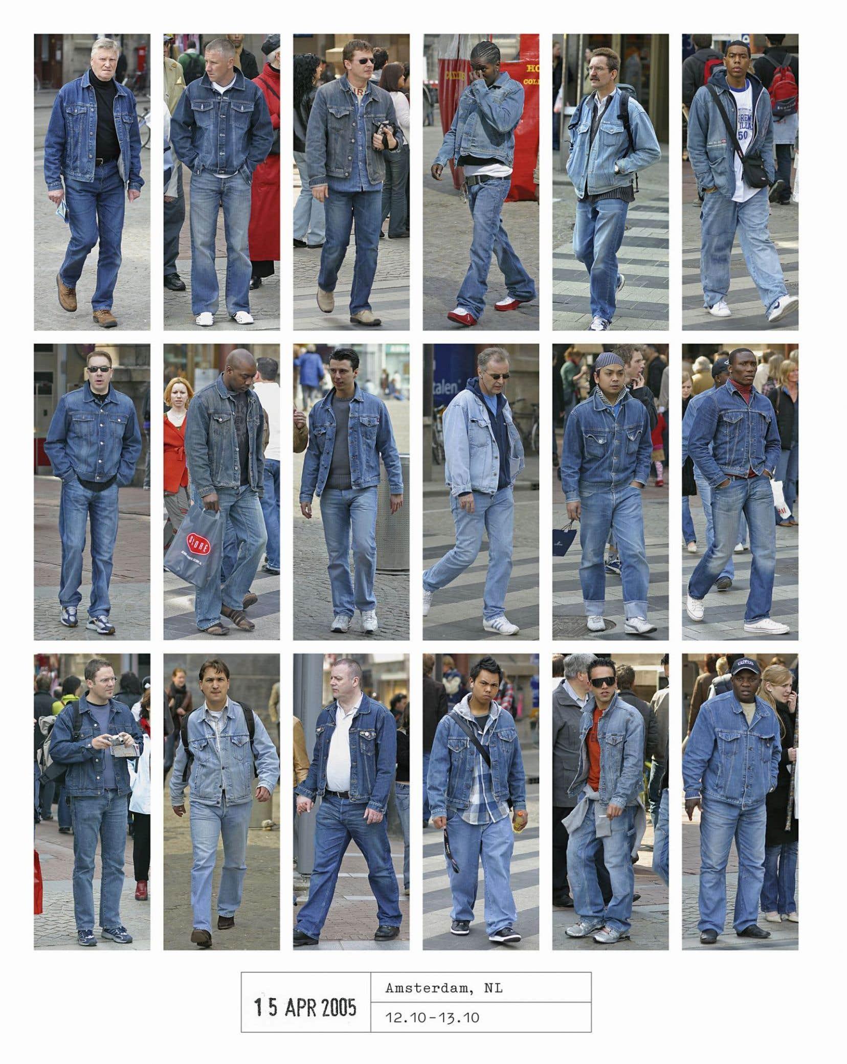 Prise de photos faite à Amsterdam le 15 avril 2005. Tiré de «People of the Twenty-First Century», de Hans Eijkelboom, publié chez Phaidon.<br />