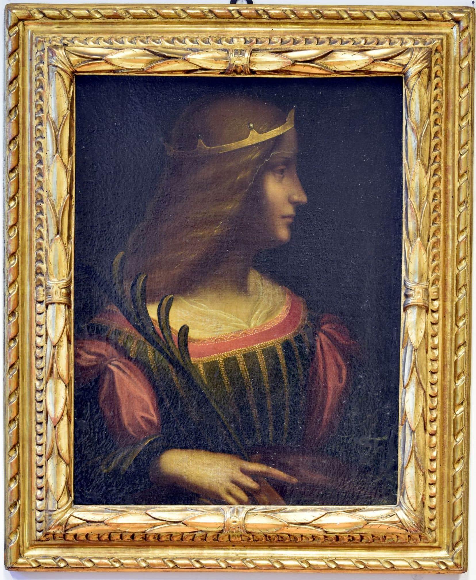 «Portrait d'Isabella d'Este», tableau attribué à Léonard De Vinci, à l'authenticité douteuse.